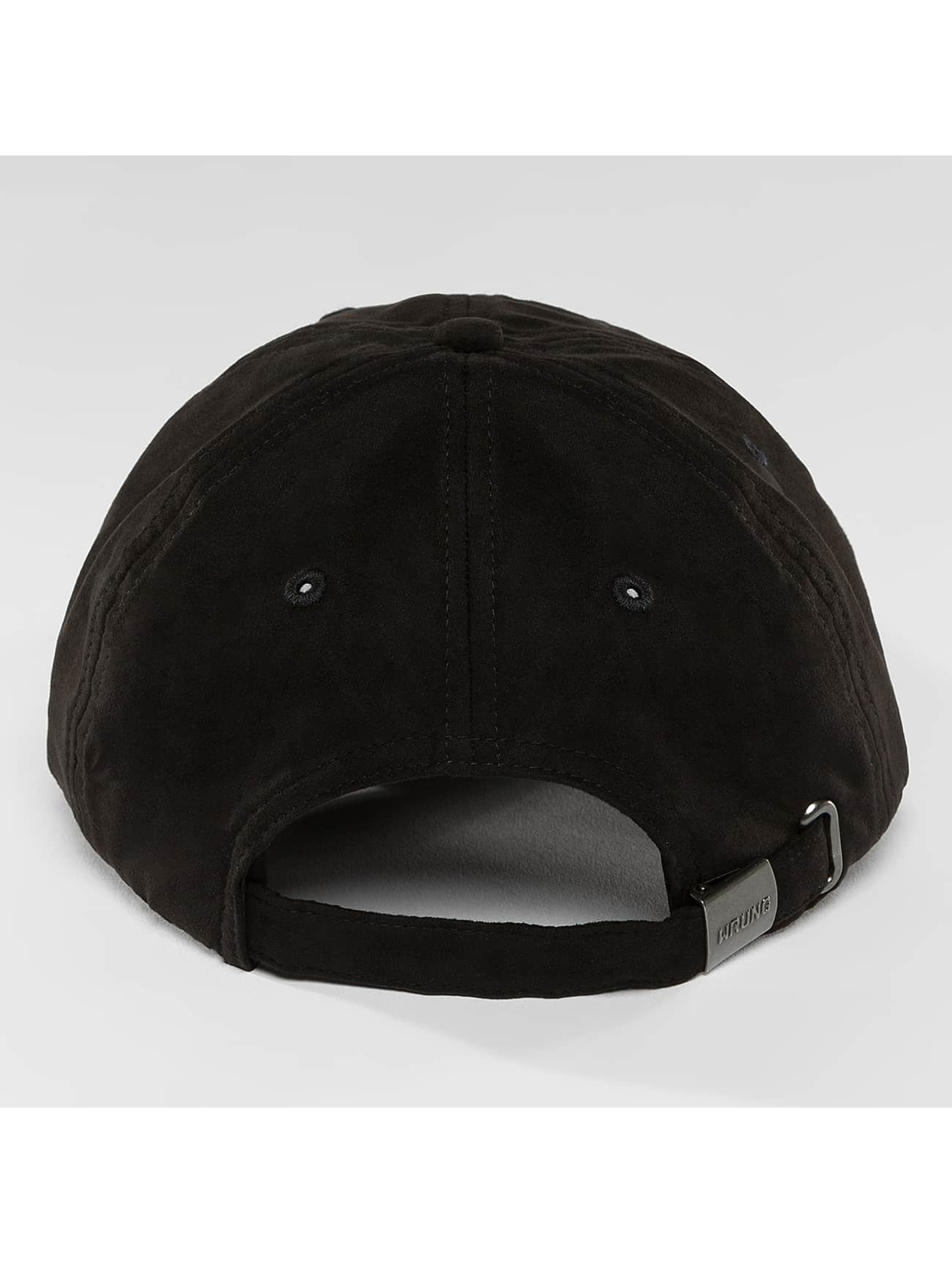 Wrung Division Snapback Caps Daim musta