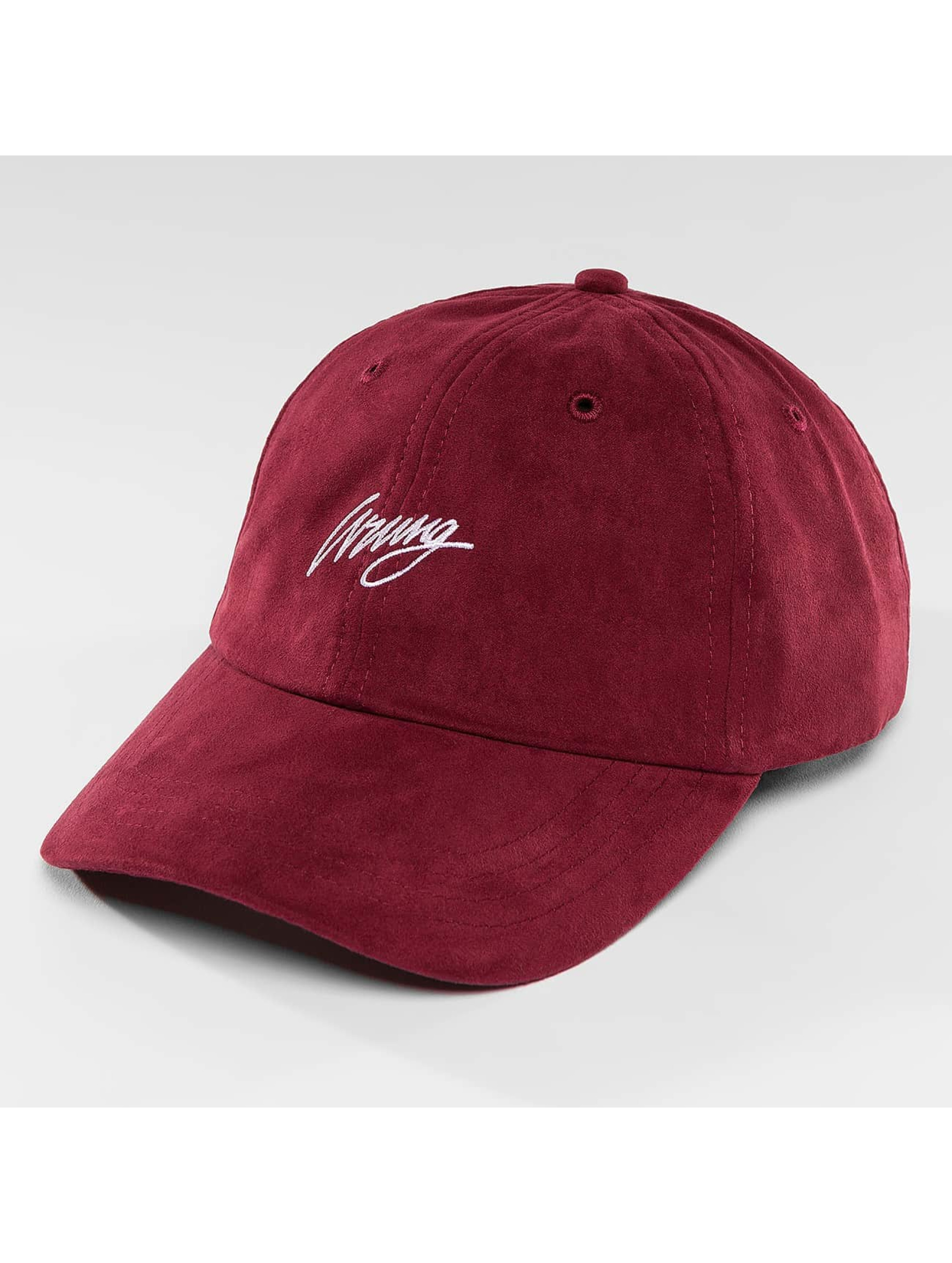 Wrung Division Snapback Caps Daim punainen