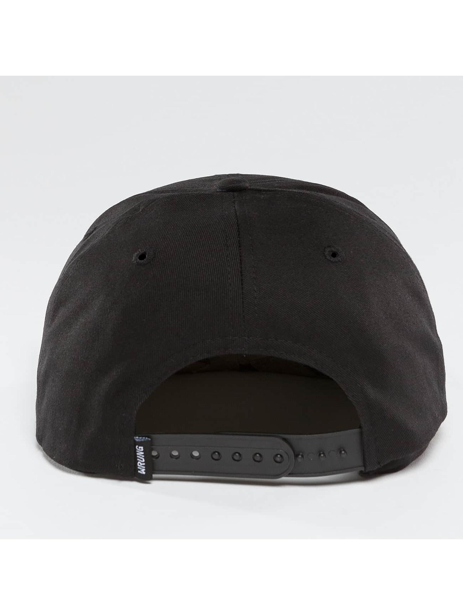 Wrung Division Snapback Caps Sigle svart