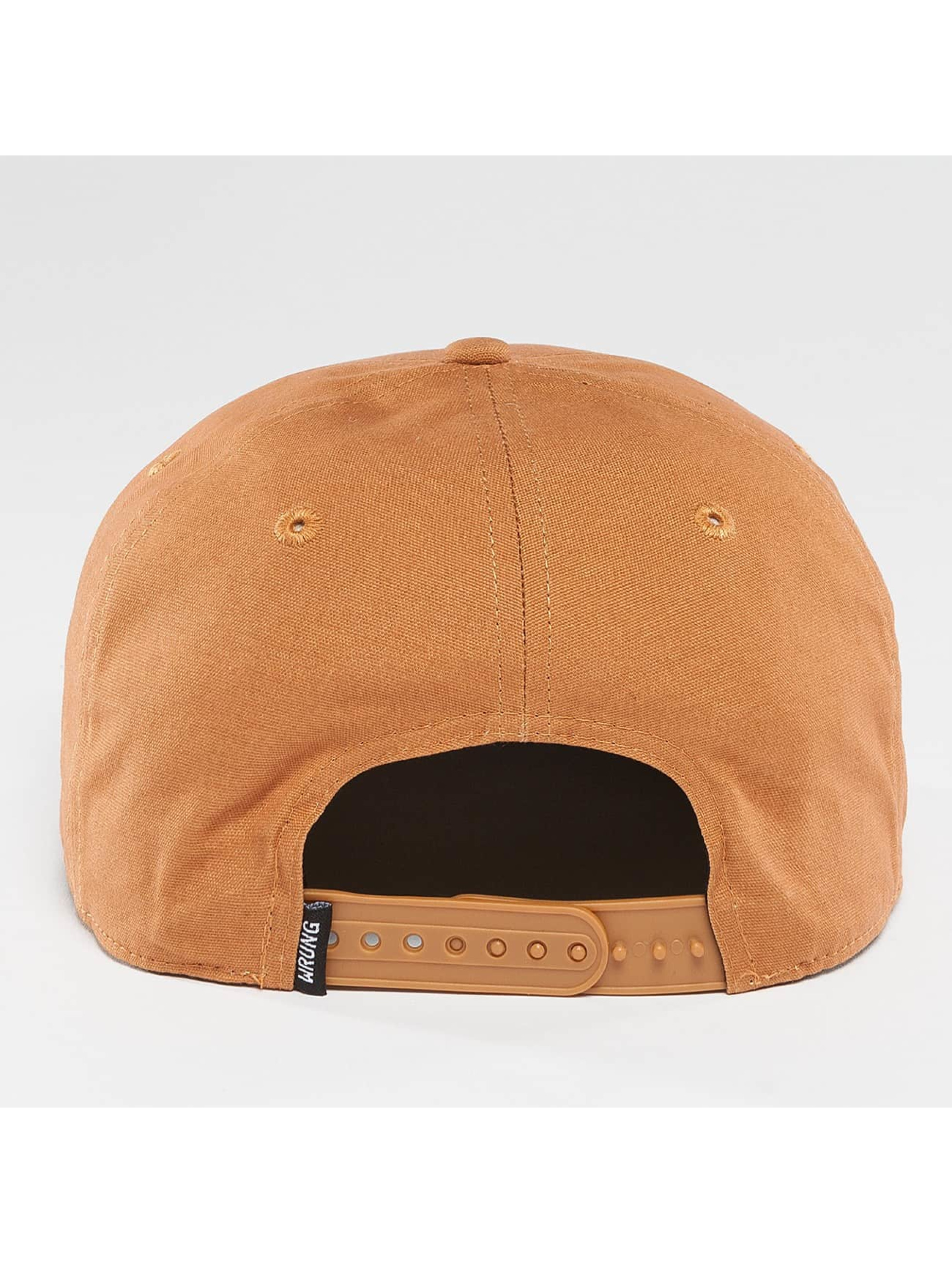 Wrung Division Snapback Work hnedá