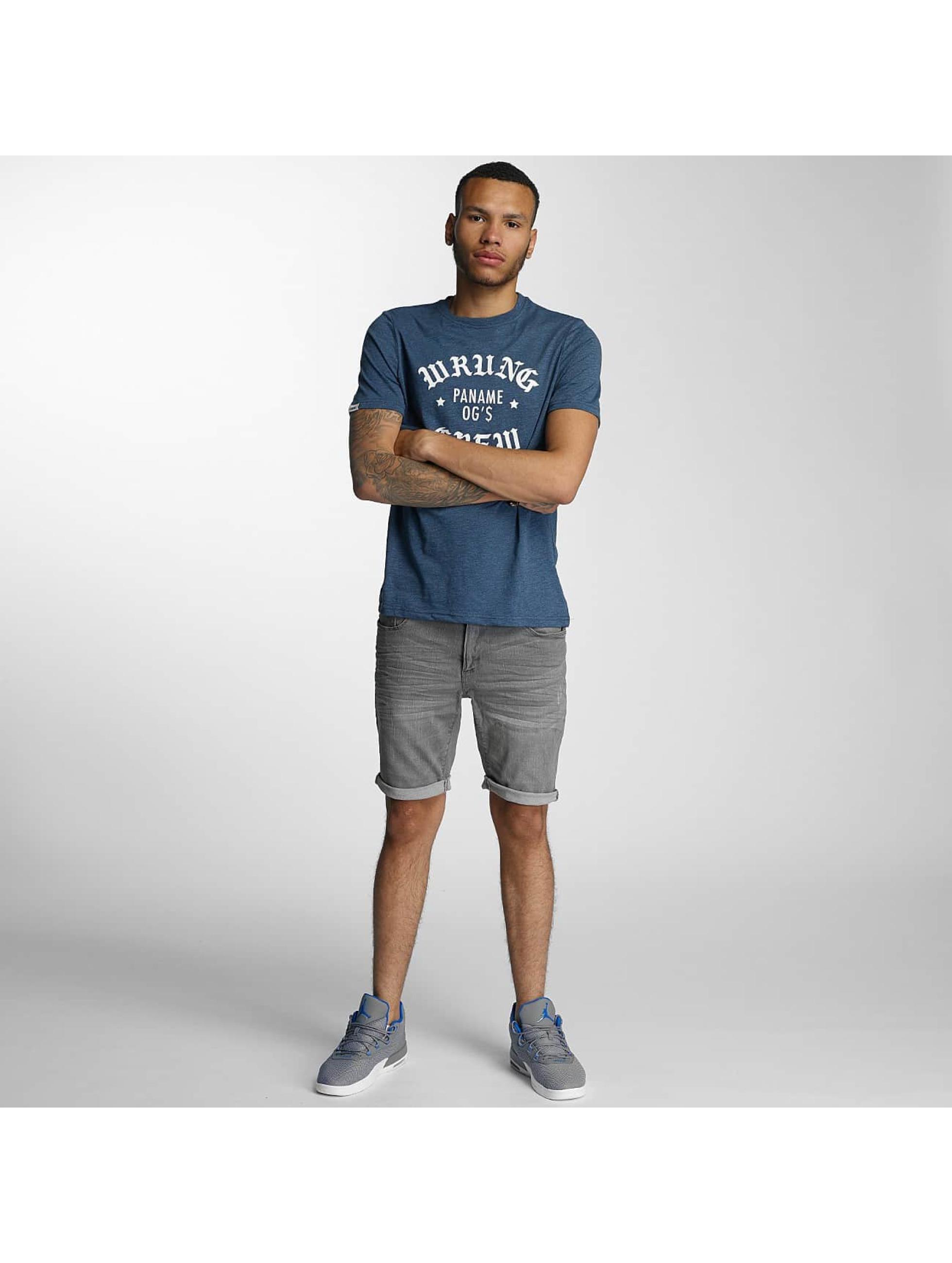 Wrung Division T-Shirt DA Crew blau