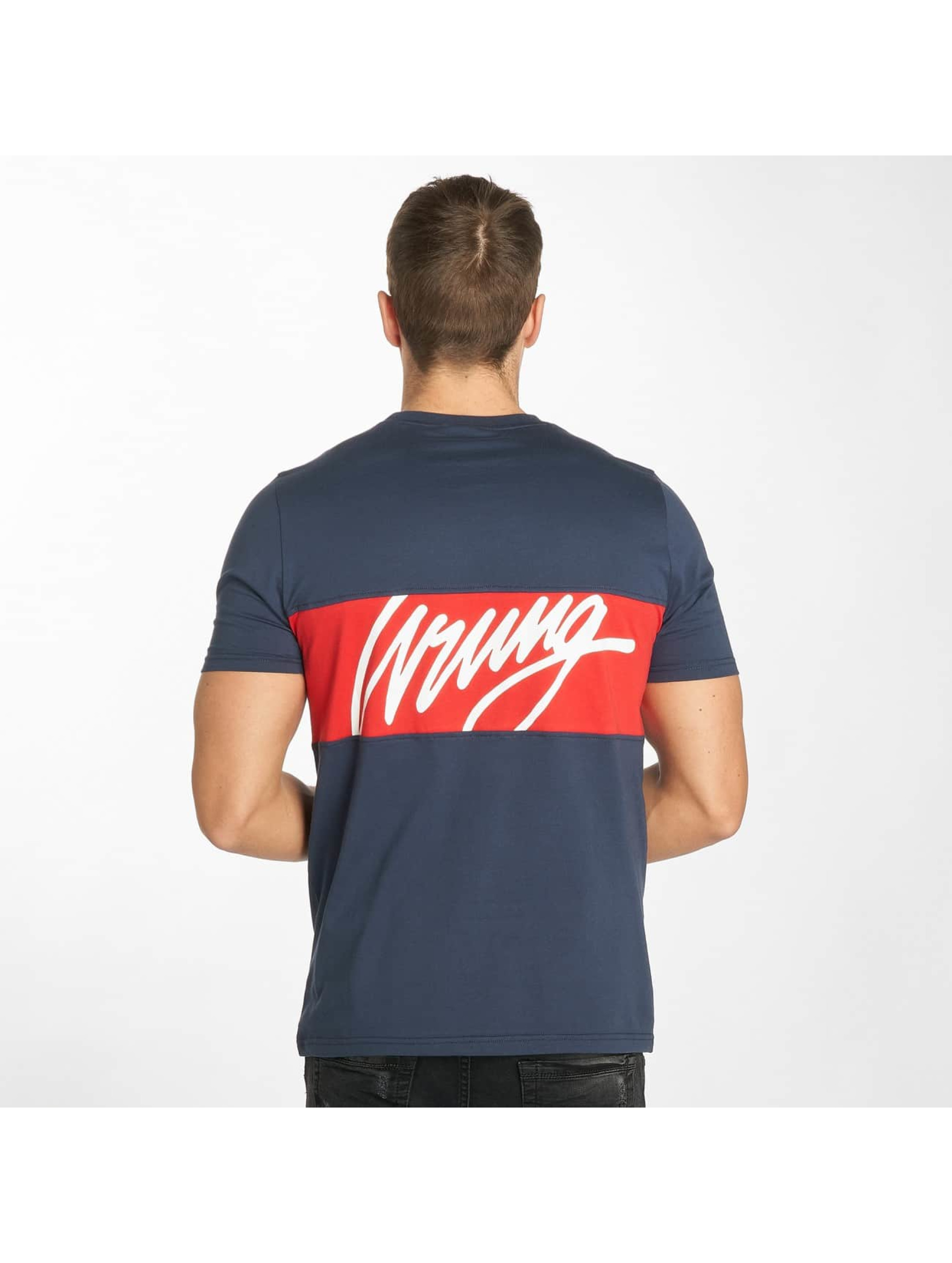 Wrung Division T-Shirt Backer blue