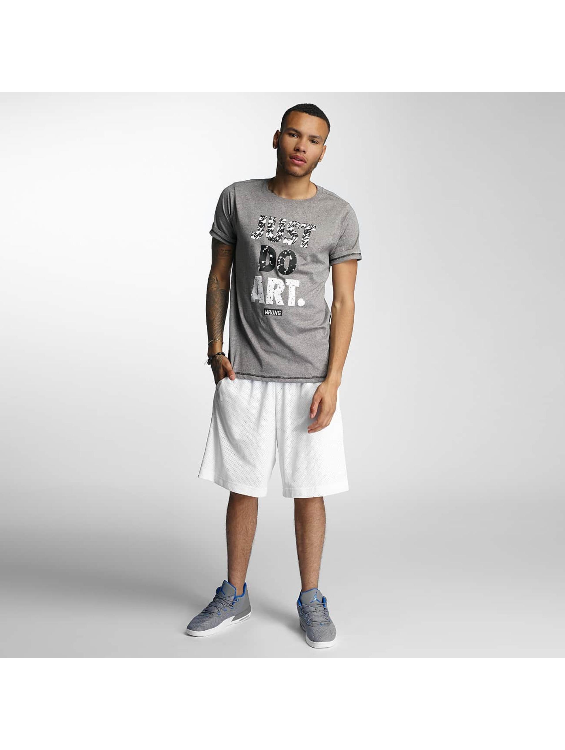 Wrung Division T-Shirt Just Do Art grey