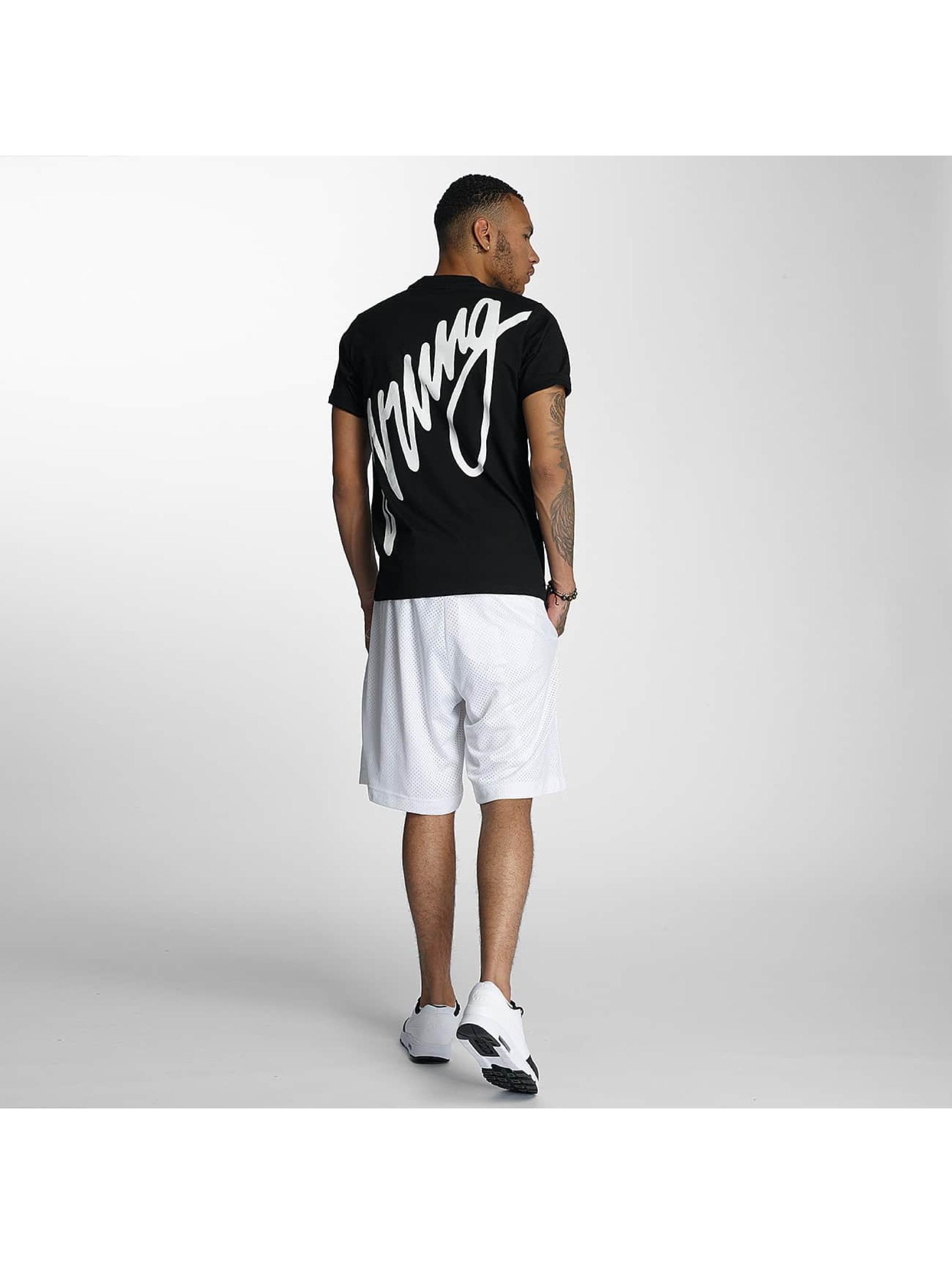 Wrung Division T-Shirt Black Sign noir