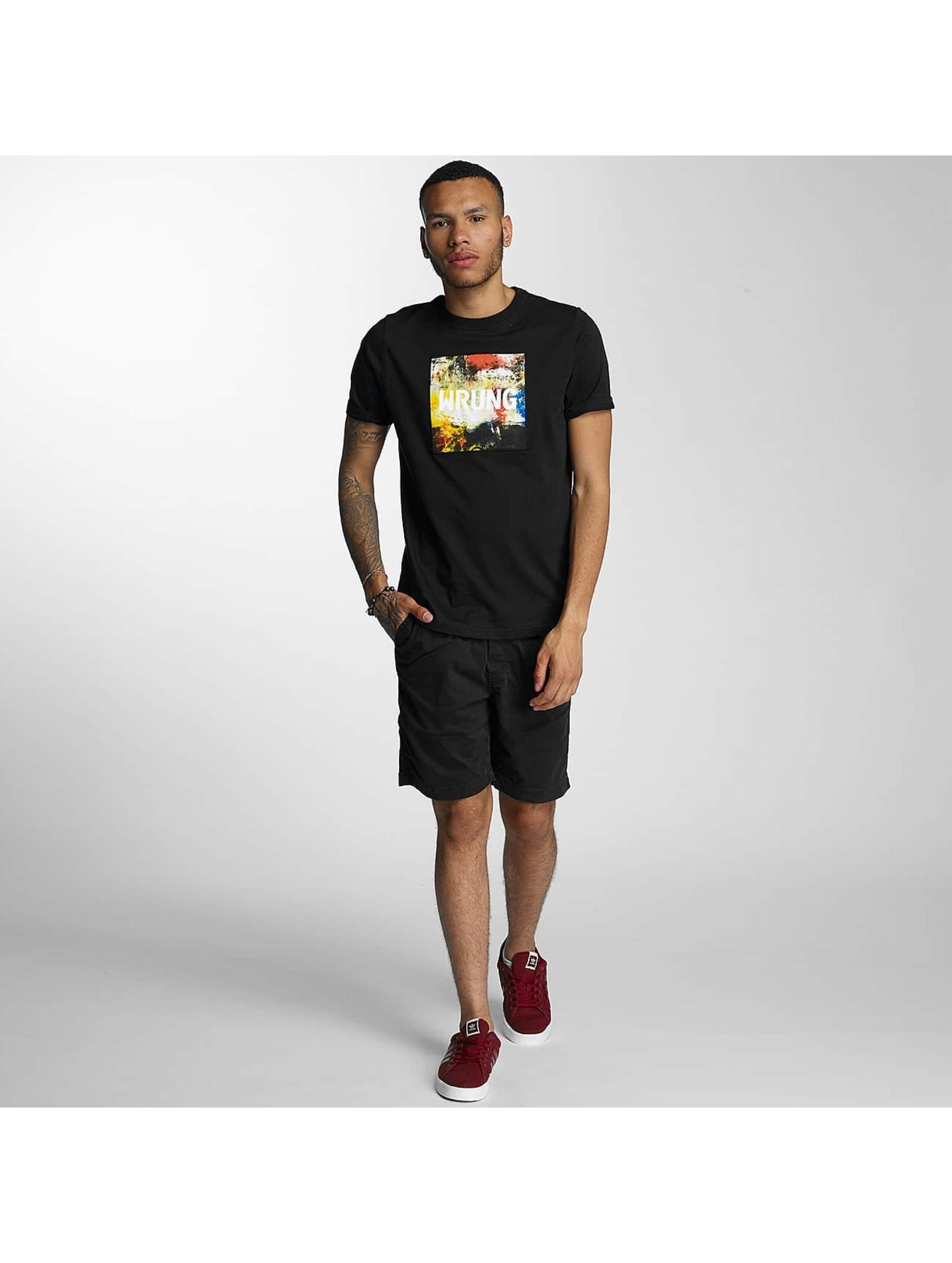 Wrung Division T-Shirt Texture schwarz
