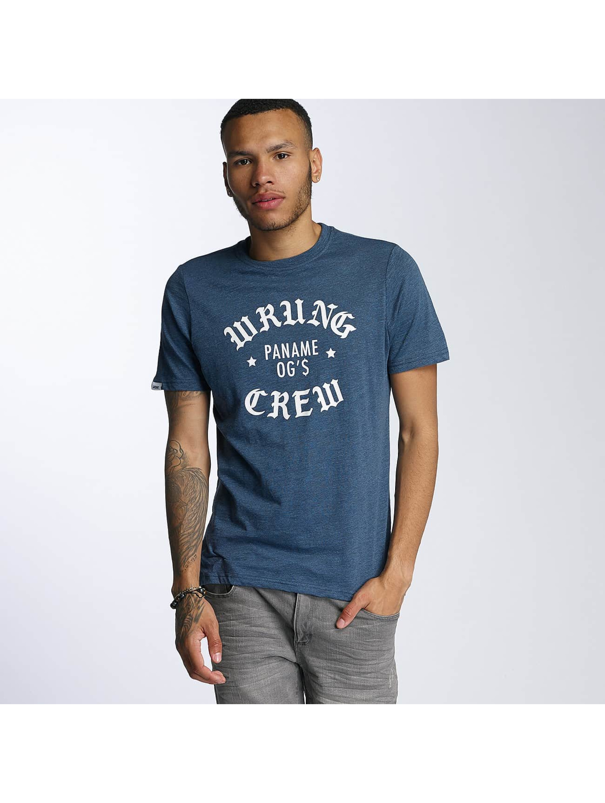 Wrung Division T-Shirty DA Crew niebieski