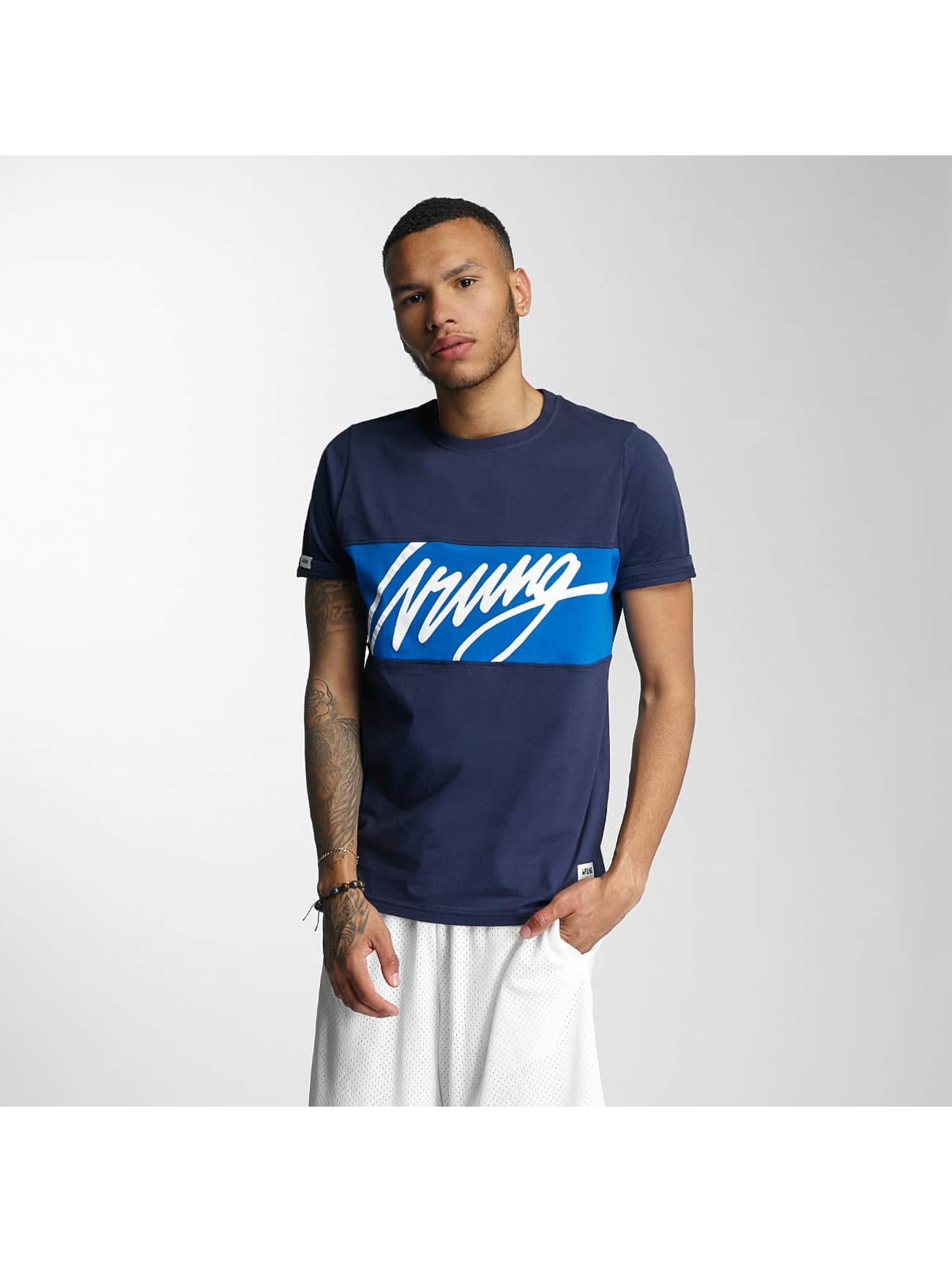 Wrung Division T-skjorter Flow blå