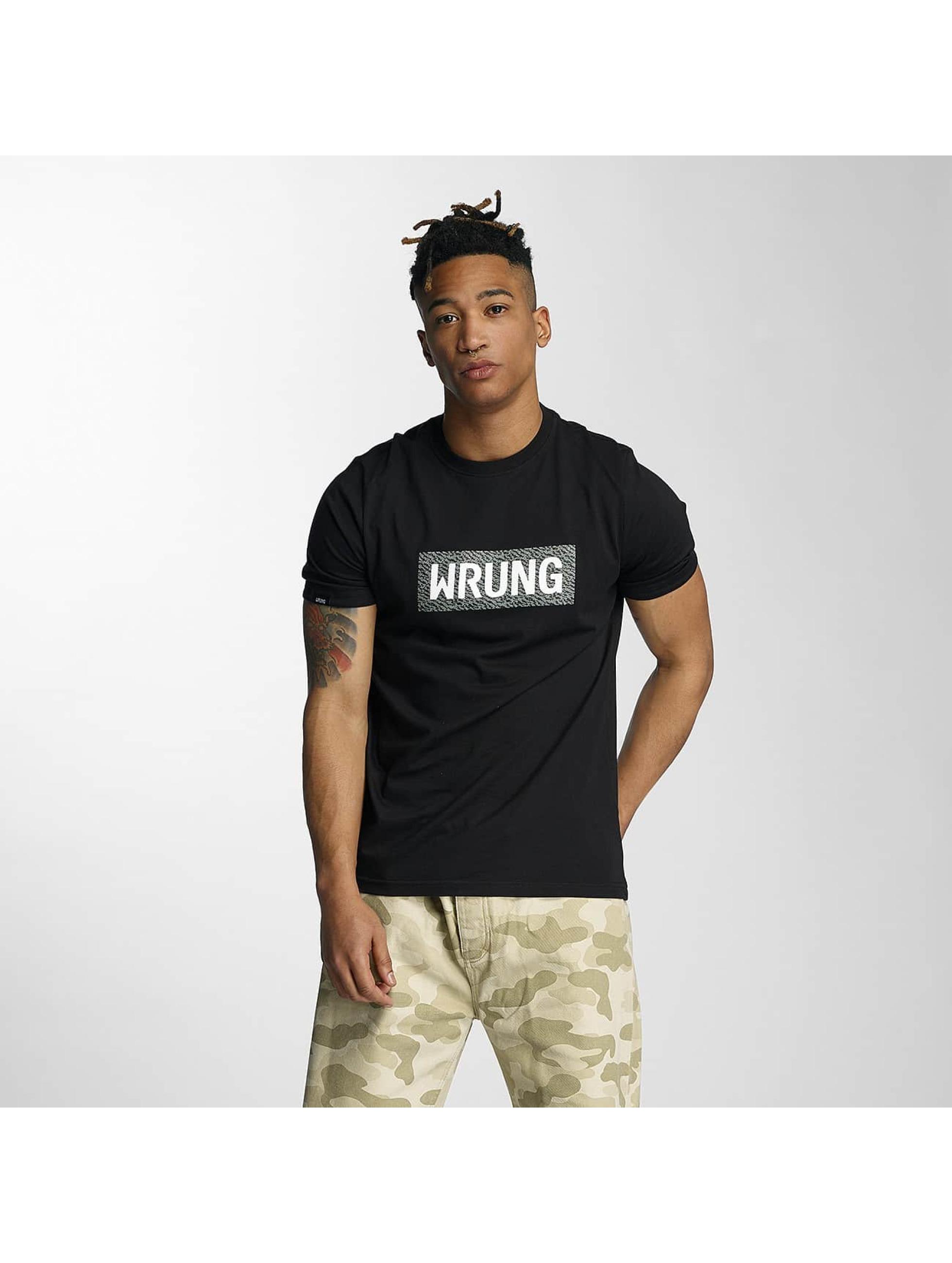 Wrung Division T-skjorter Box svart