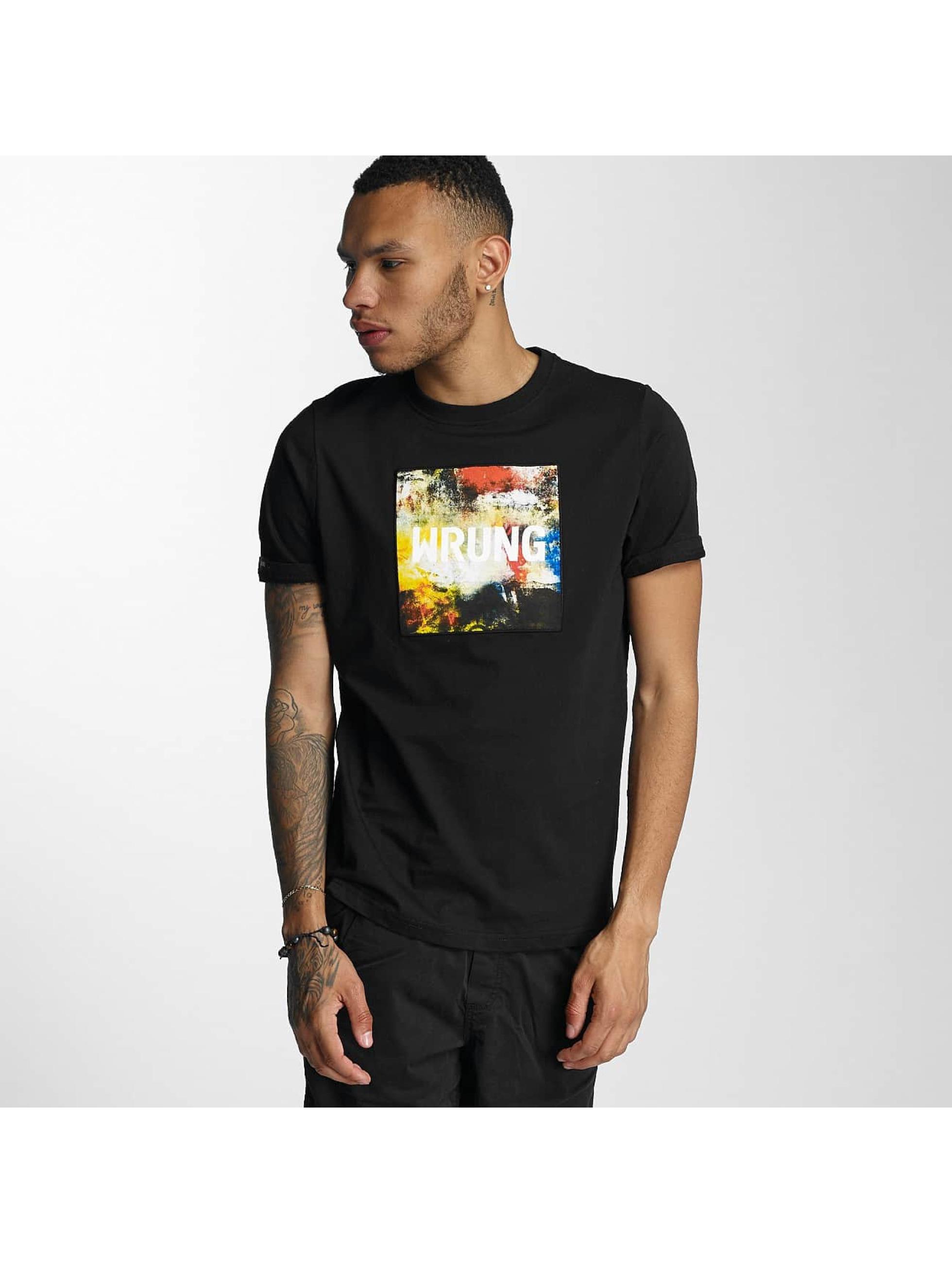 Wrung Division T-skjorter Texture svart