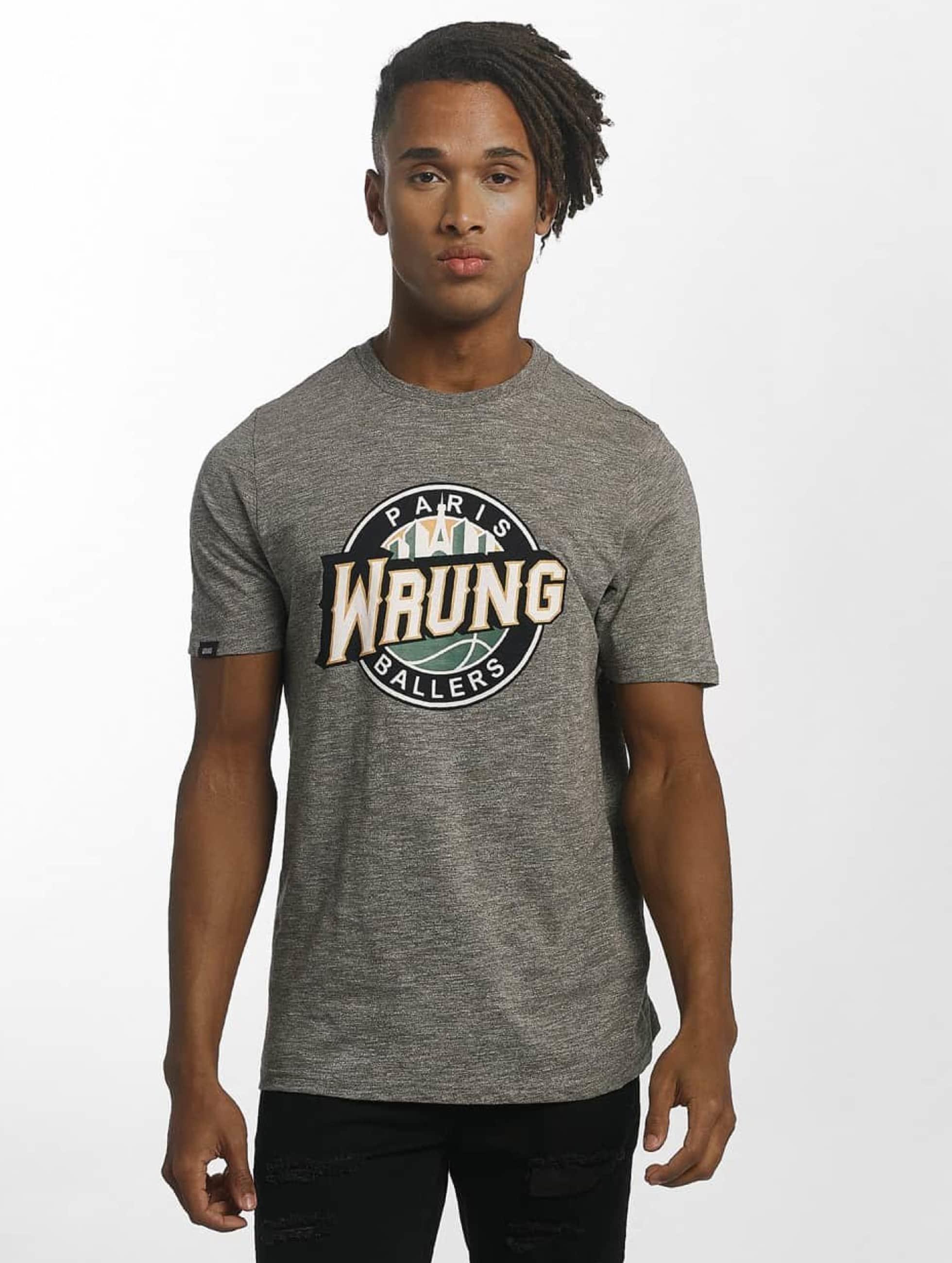 Wrung Division Tričká Ballers šedá