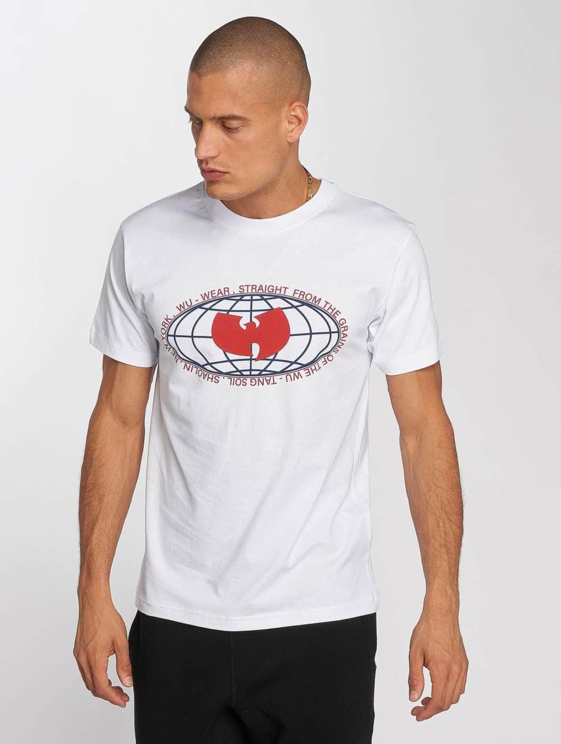 Wu-Tang T-Shirty Globe Logo bialy