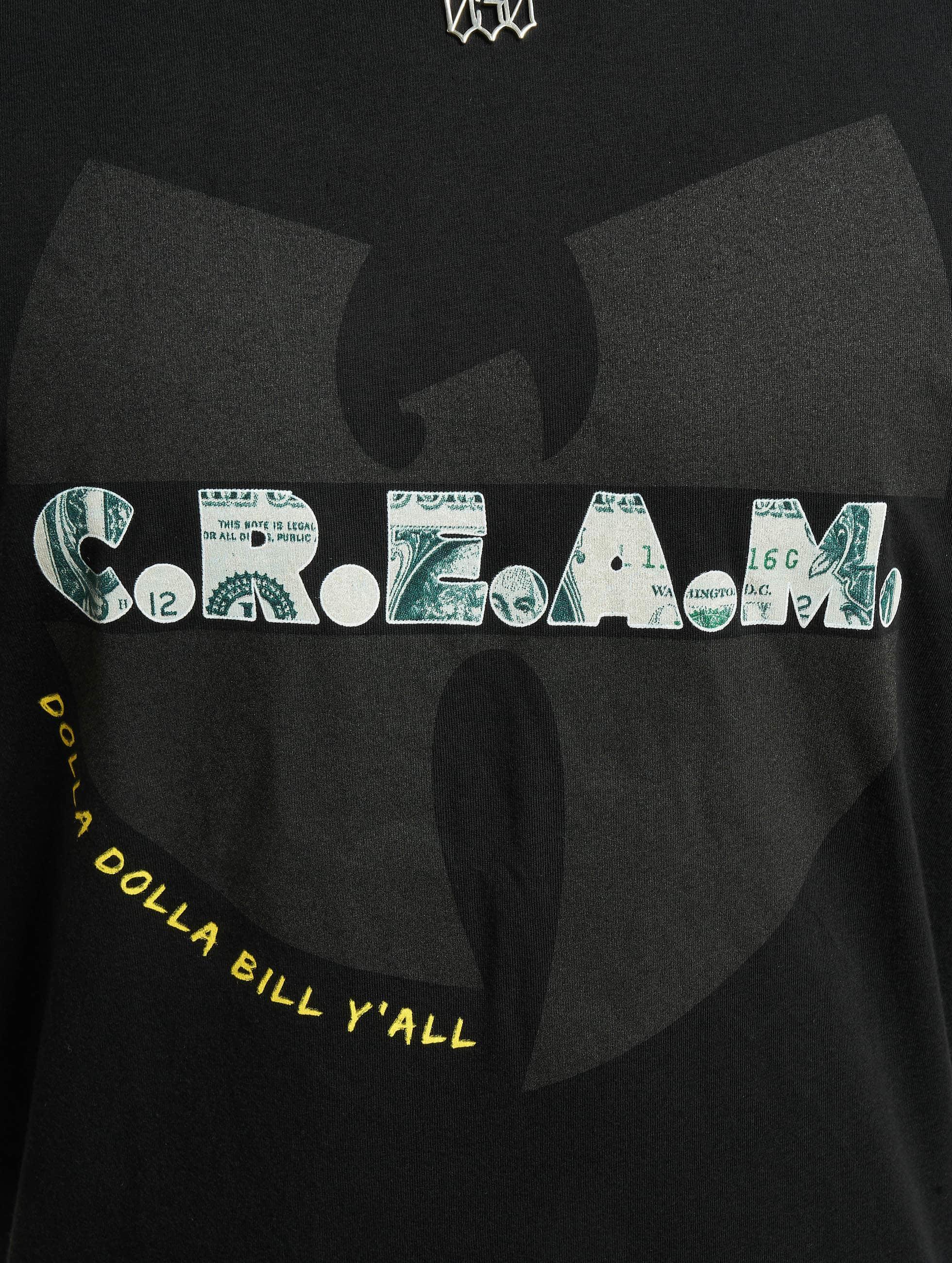 Wu-Tang T-skjorter C.R.E.A.M. svart
