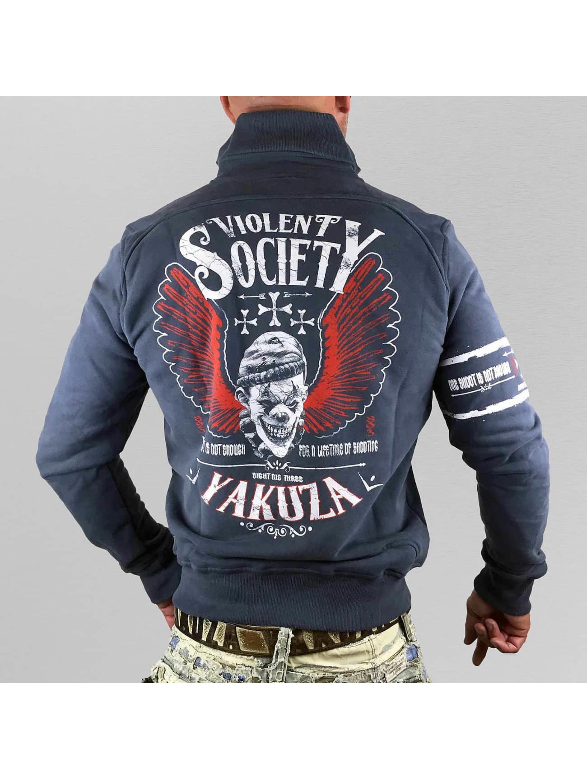 Yakuza Демисезонная куртка Violent Society синий