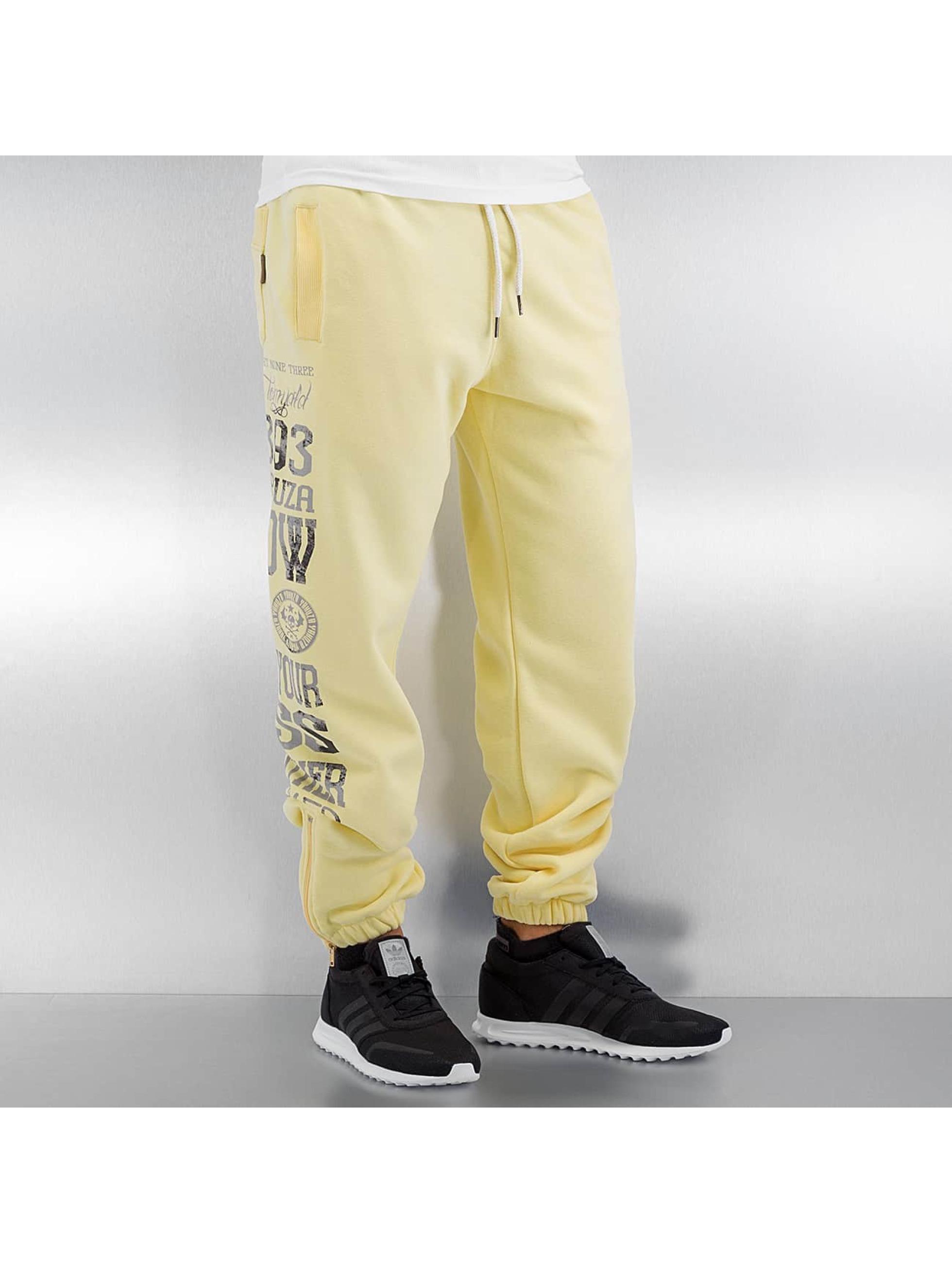 Yakuza Спортивные брюки Blow It Out желтый