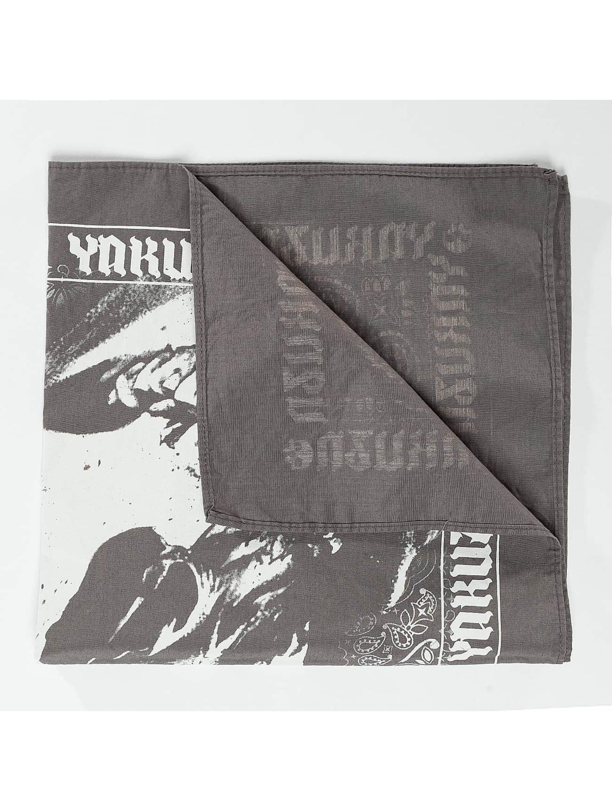 Yakuza Bandana/Durag Skull gray