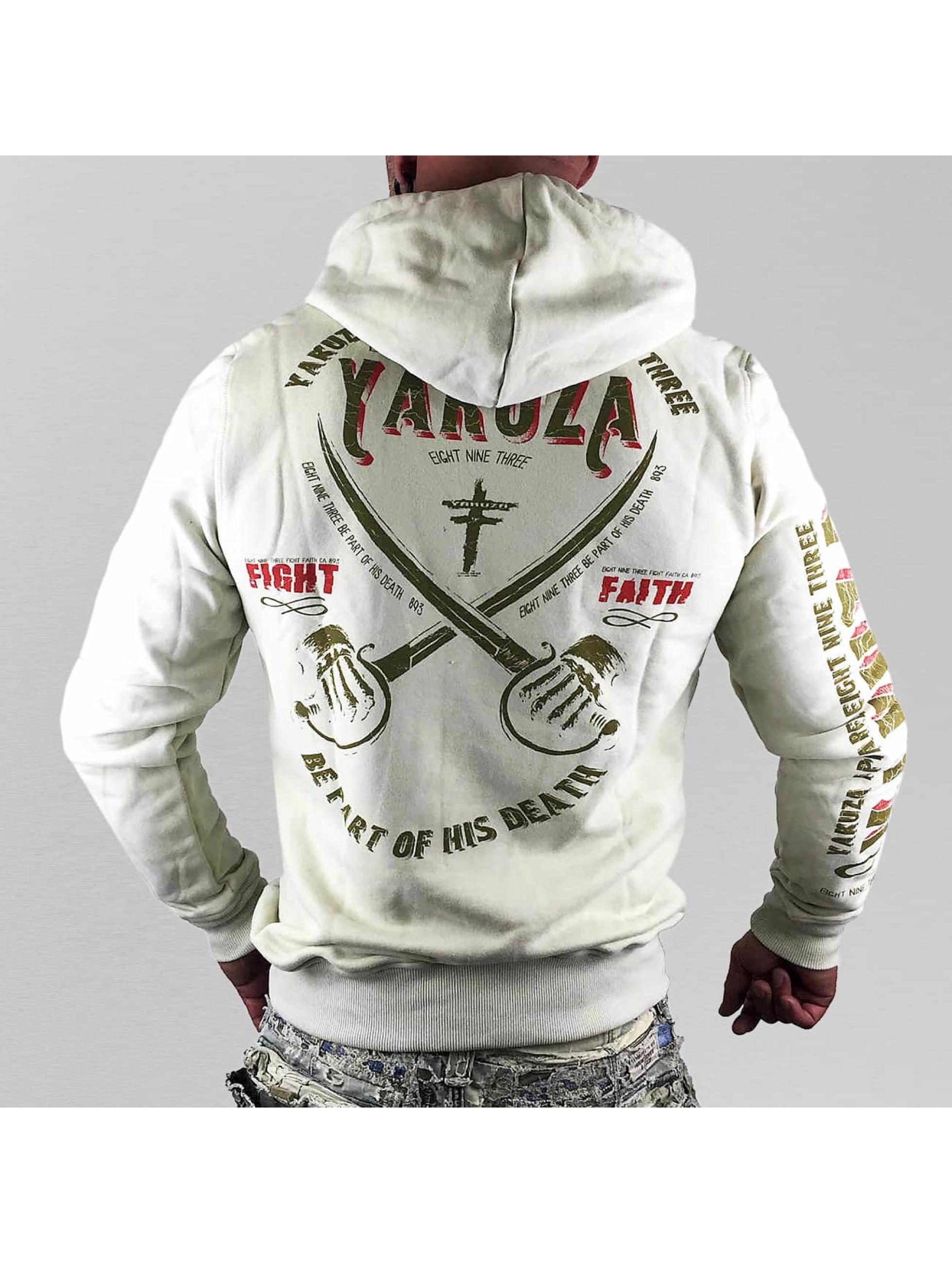 Yakuza Bluzy z kapturem Fight Faith bezowy