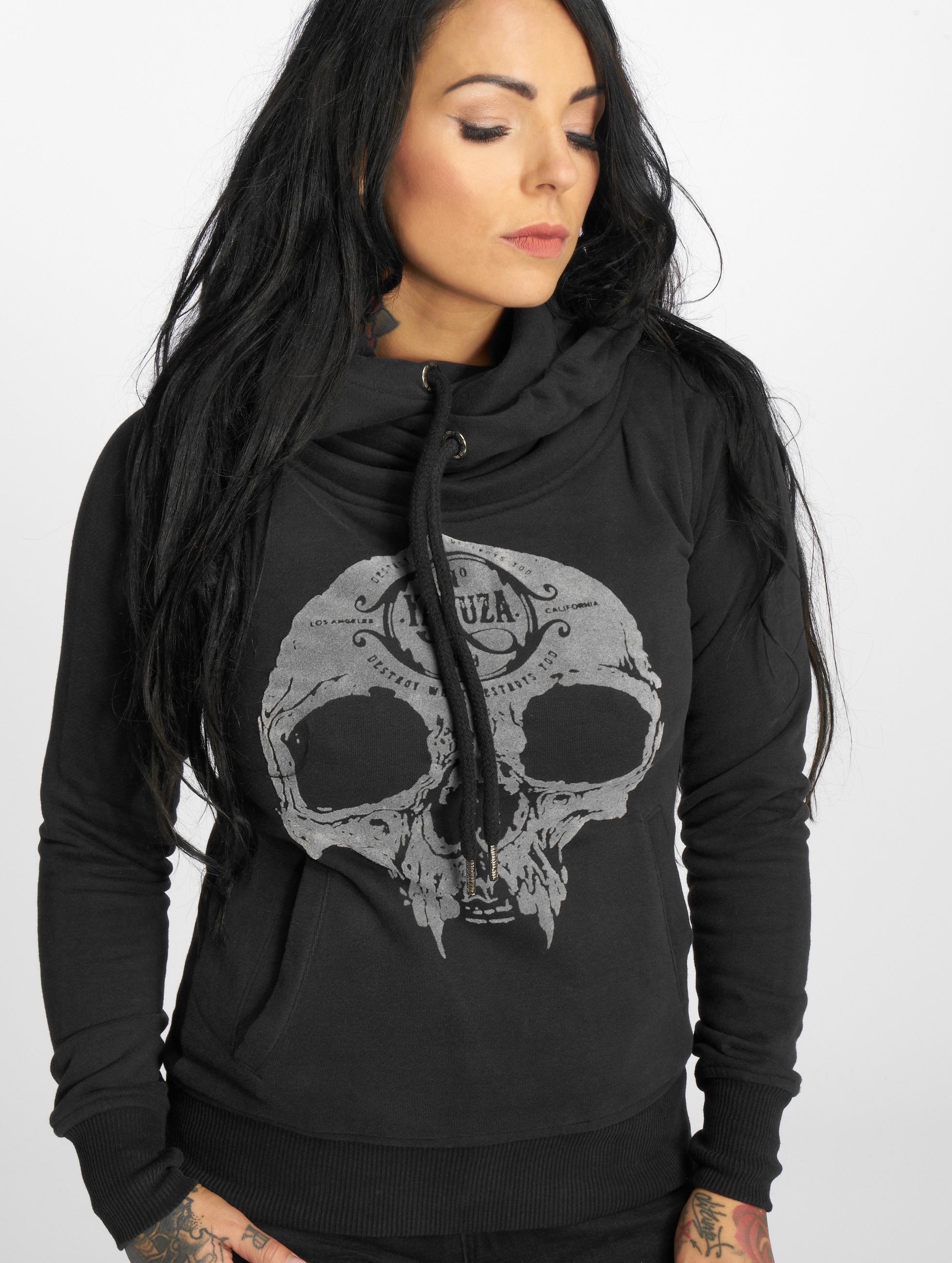 Yakuza Bluzy z kapturem Velvet Skull II czarny