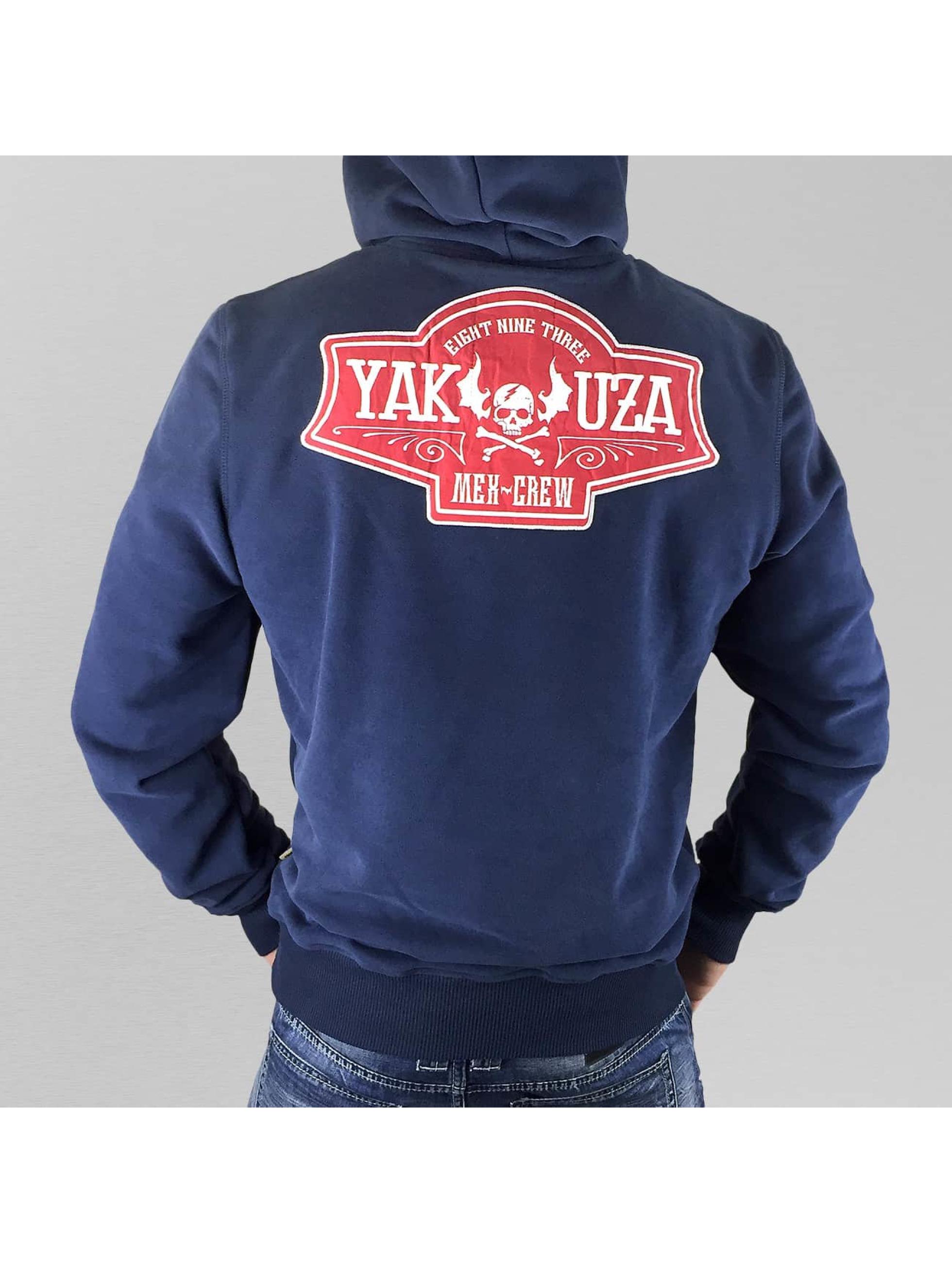 Yakuza Bluzy z kapturem Mex-Crew VO2 indygo