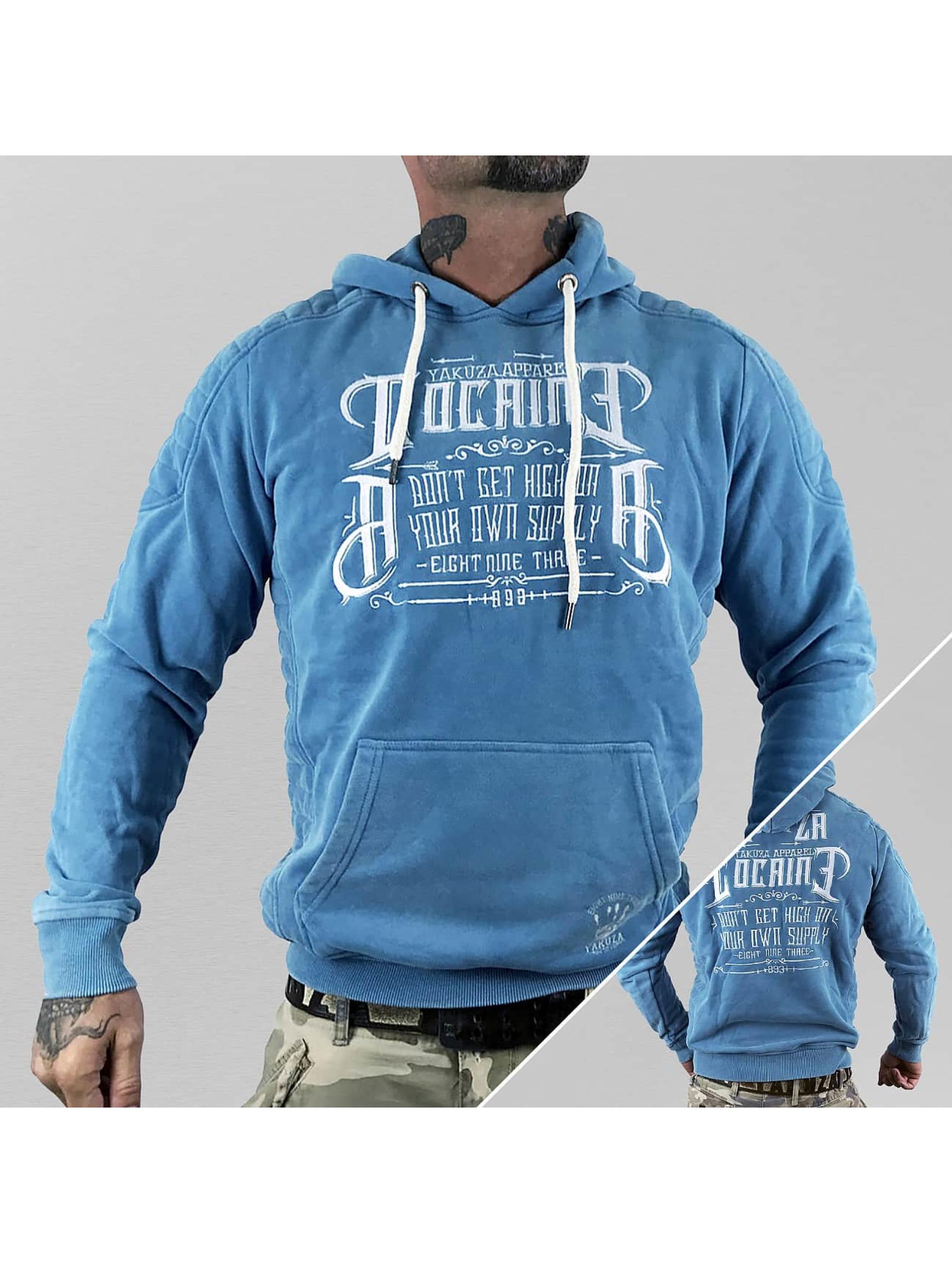 Yakuza Bluzy z kapturem Cocaine niebieski