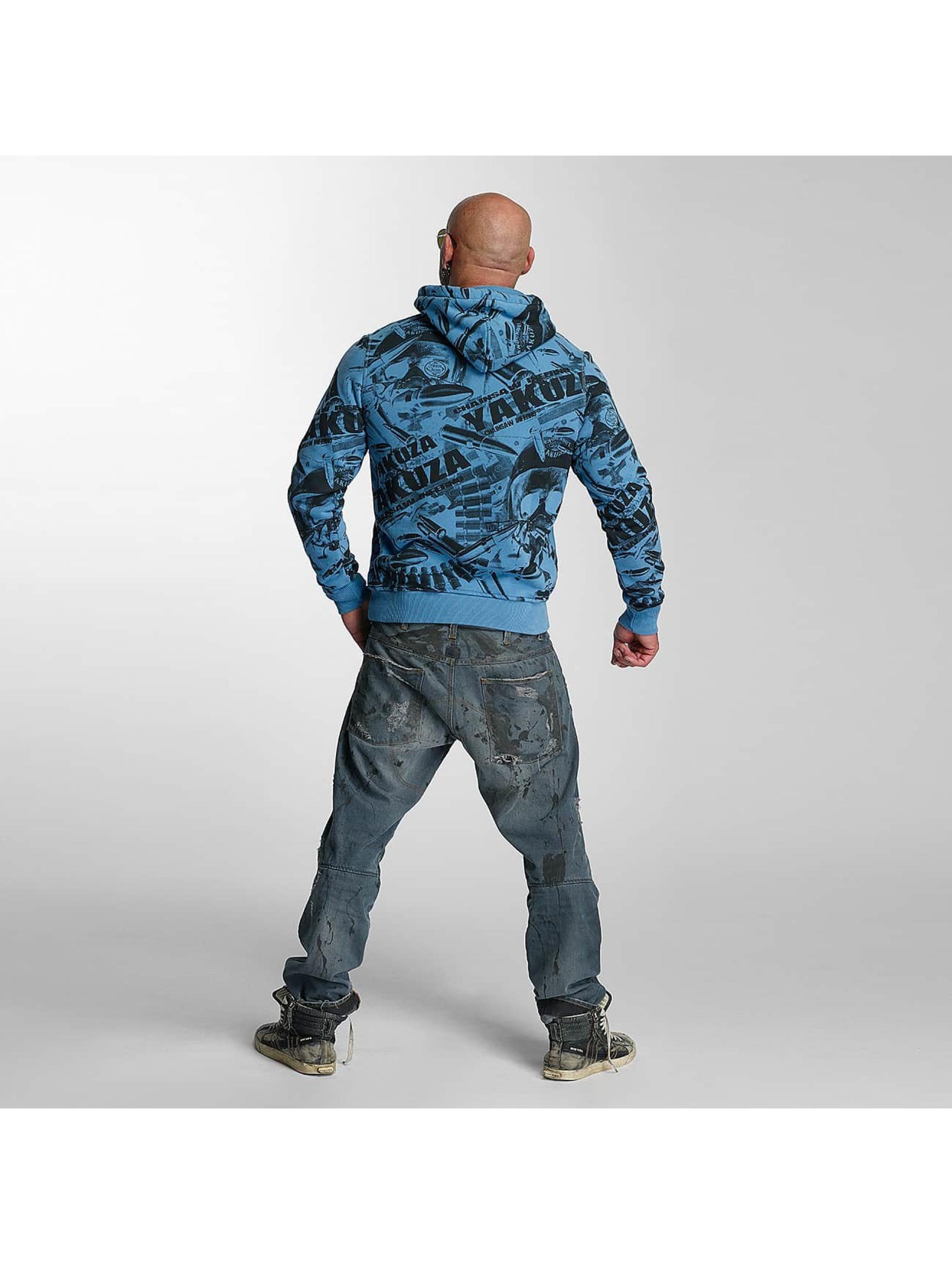 Yakuza Bluzy z kapturem Gunner Allover niebieski