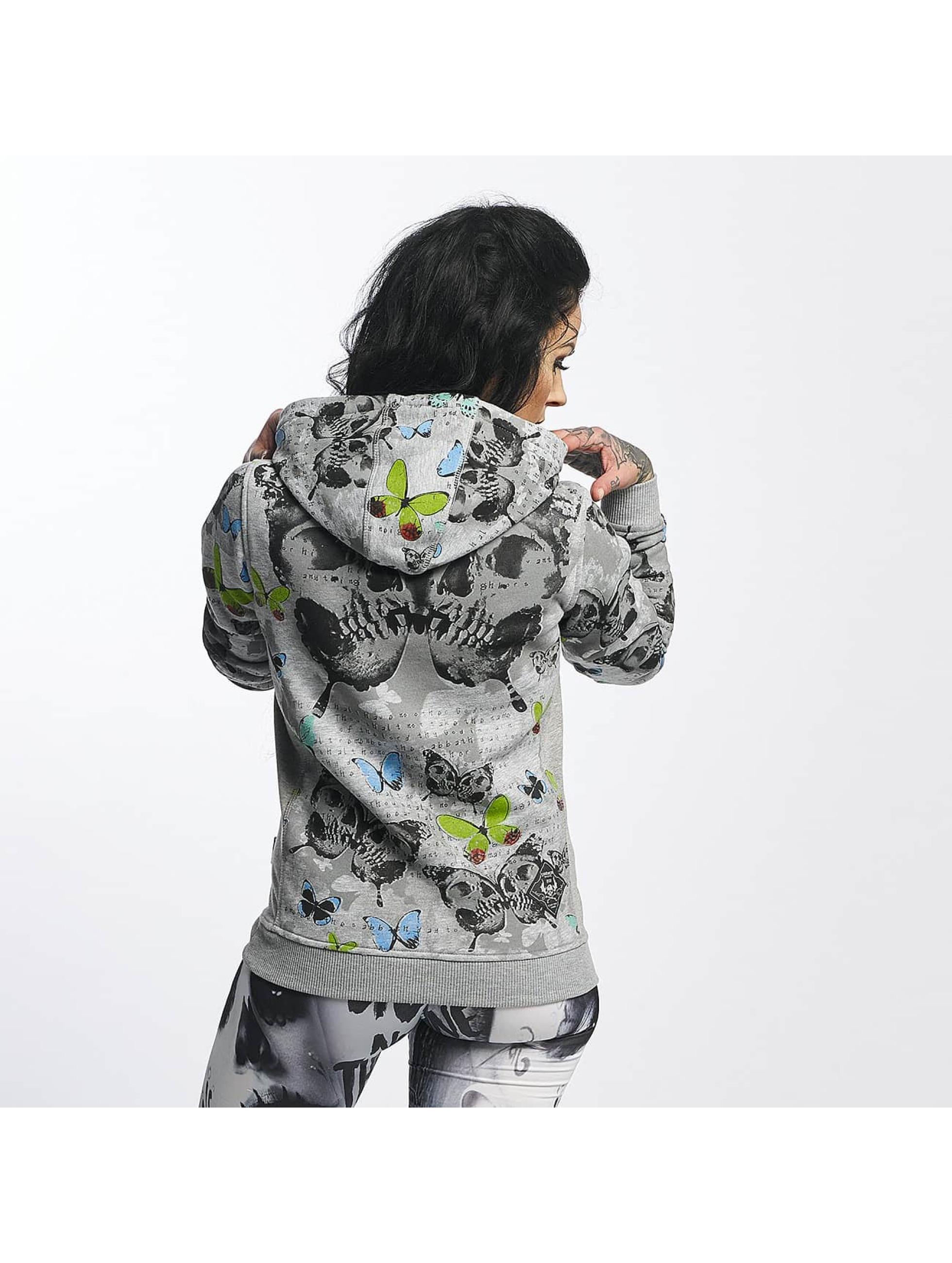 Yakuza Bluzy z kapturem Butterfly Flex szary
