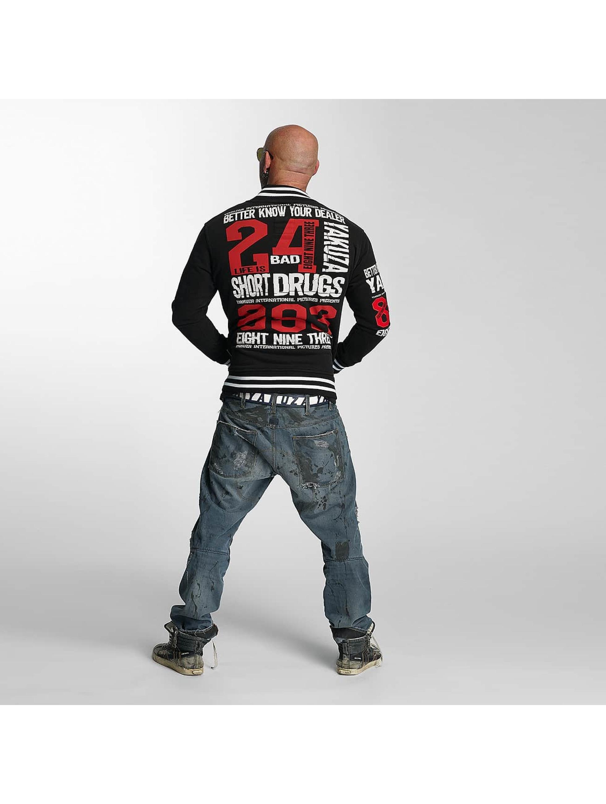 Yakuza College Jackets Know Your Dealer czarny