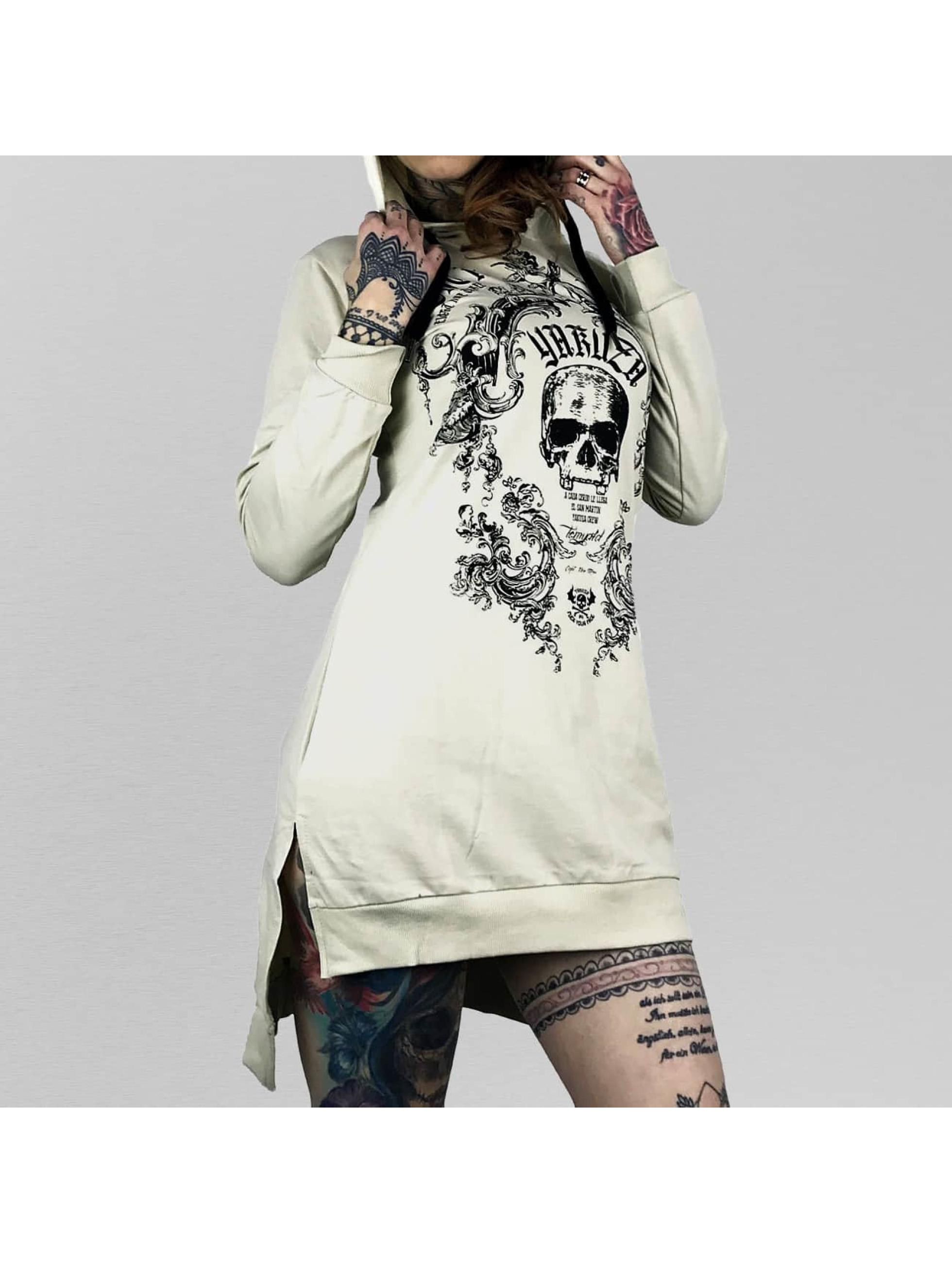Yakuza Dress Skull Hooded white