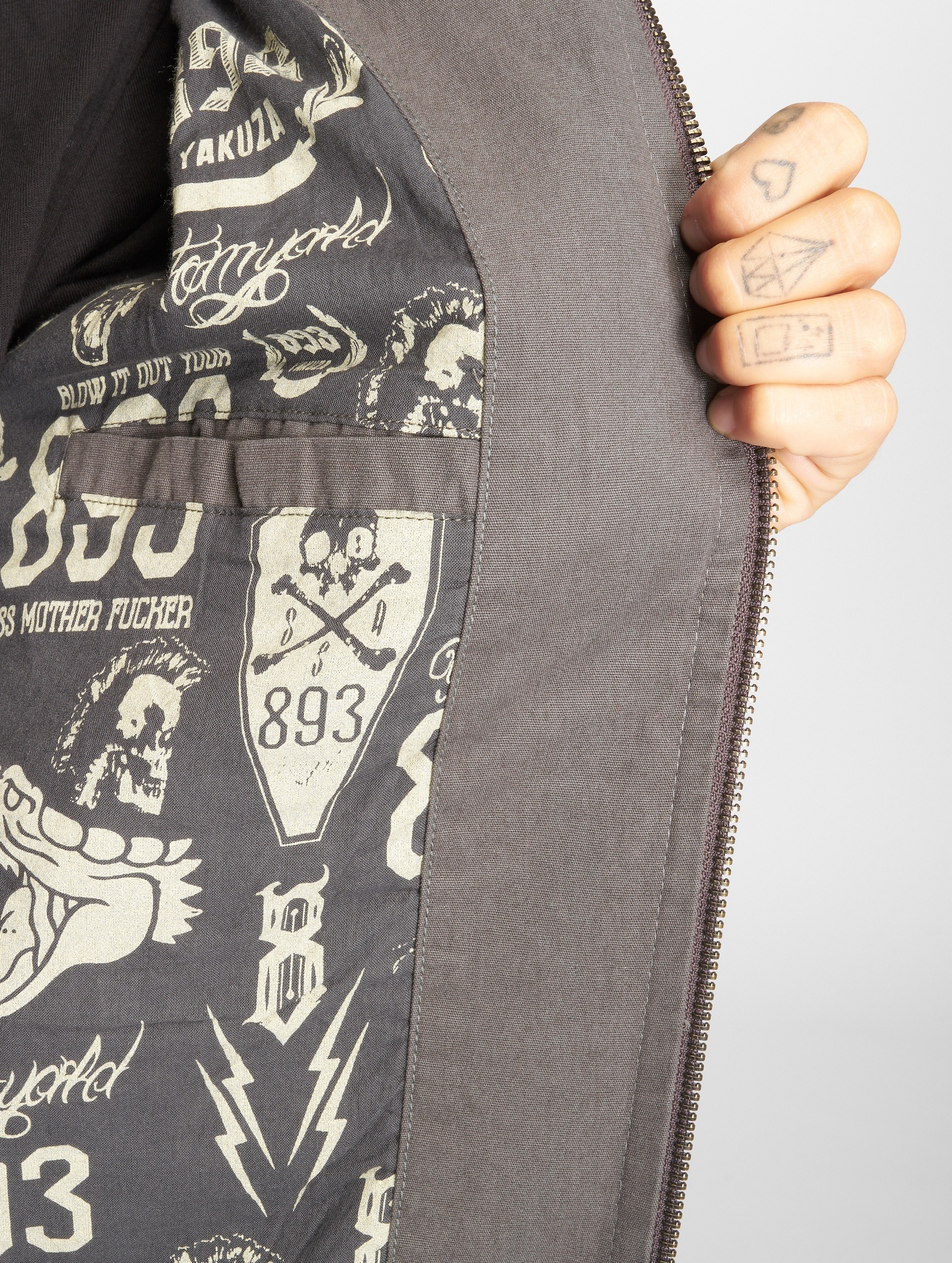 Yakuza Giubbotto Bomber Meduse Crop grigio