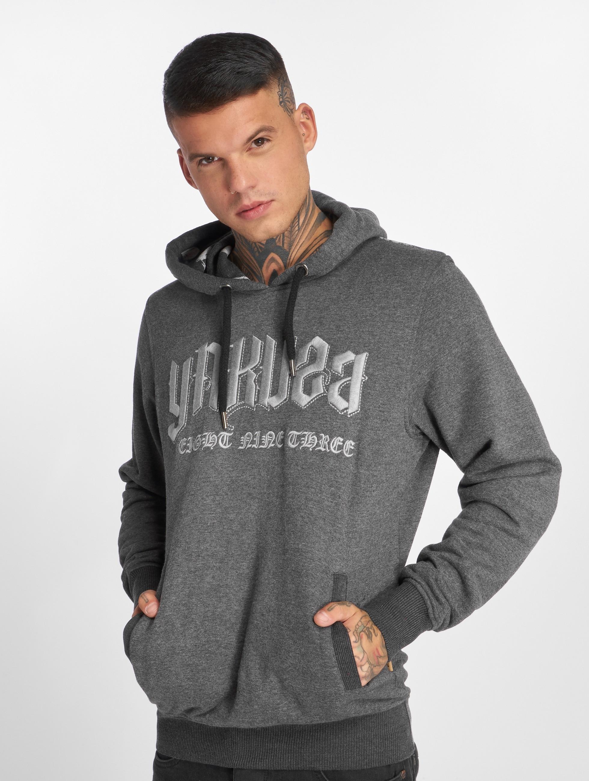Yakuza Hoodie Undead grå