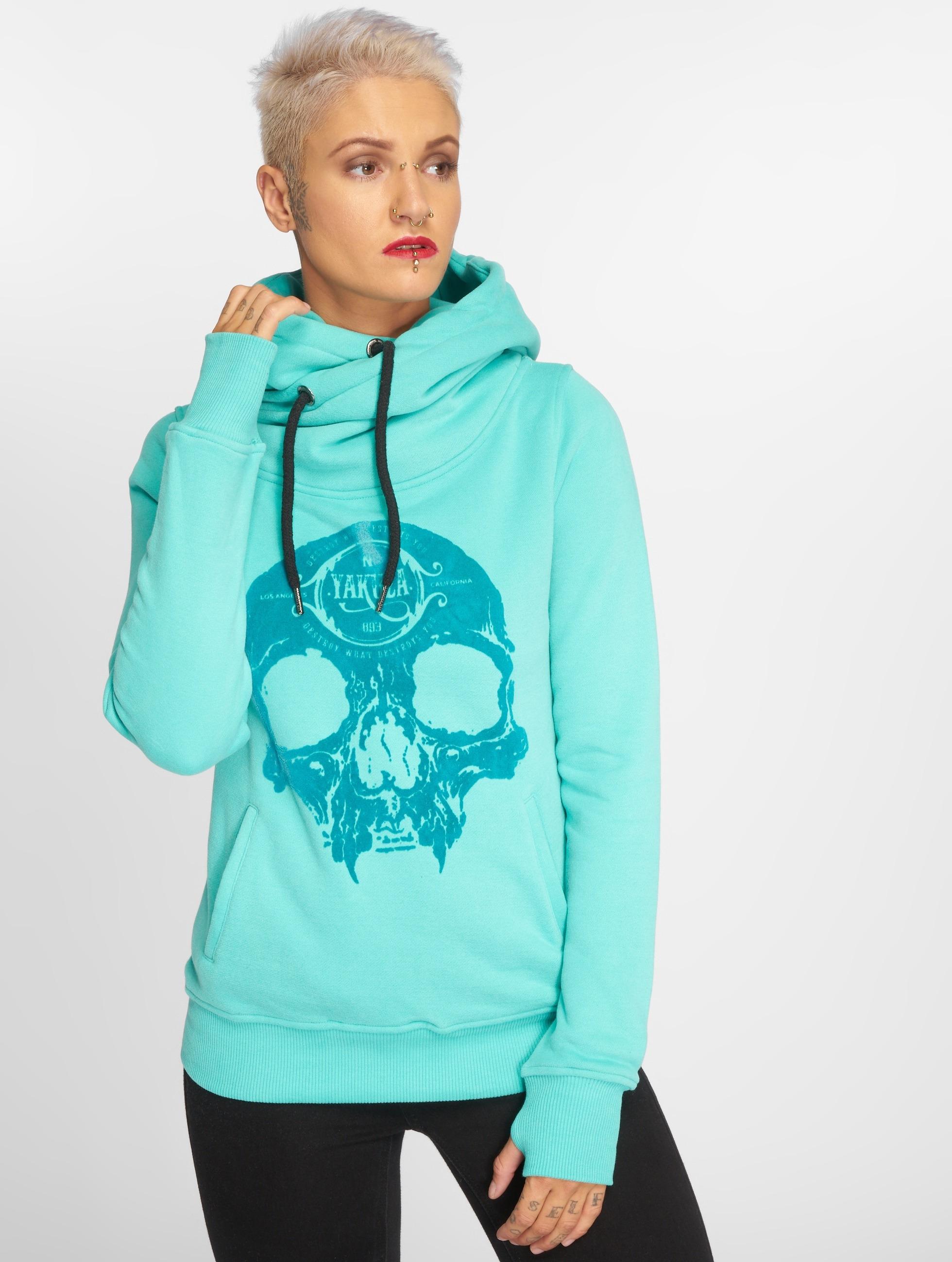Yakuza Hoodie Velvet Skull II turquoise
