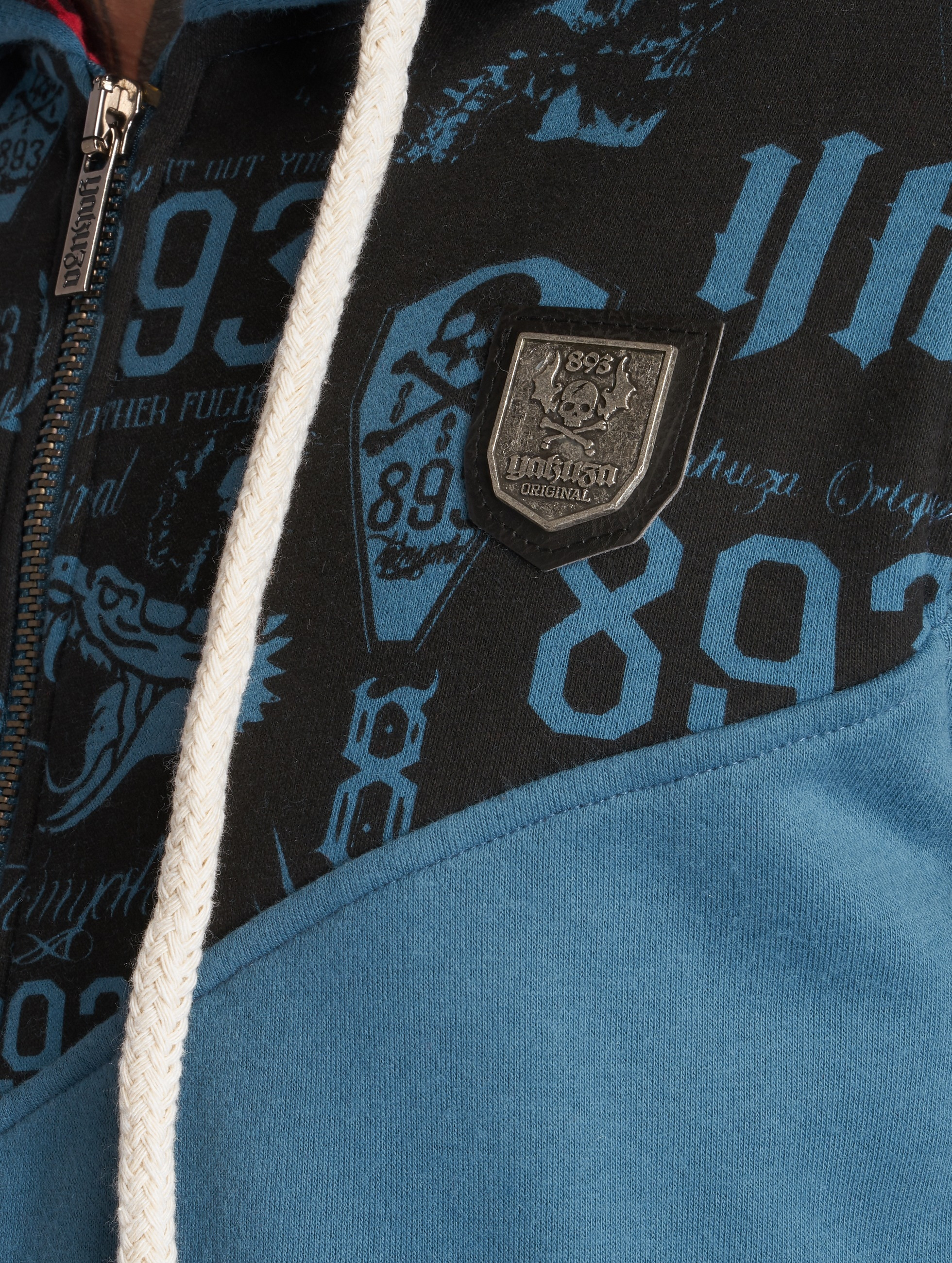 Yakuza Hoodies con zip Collos blu