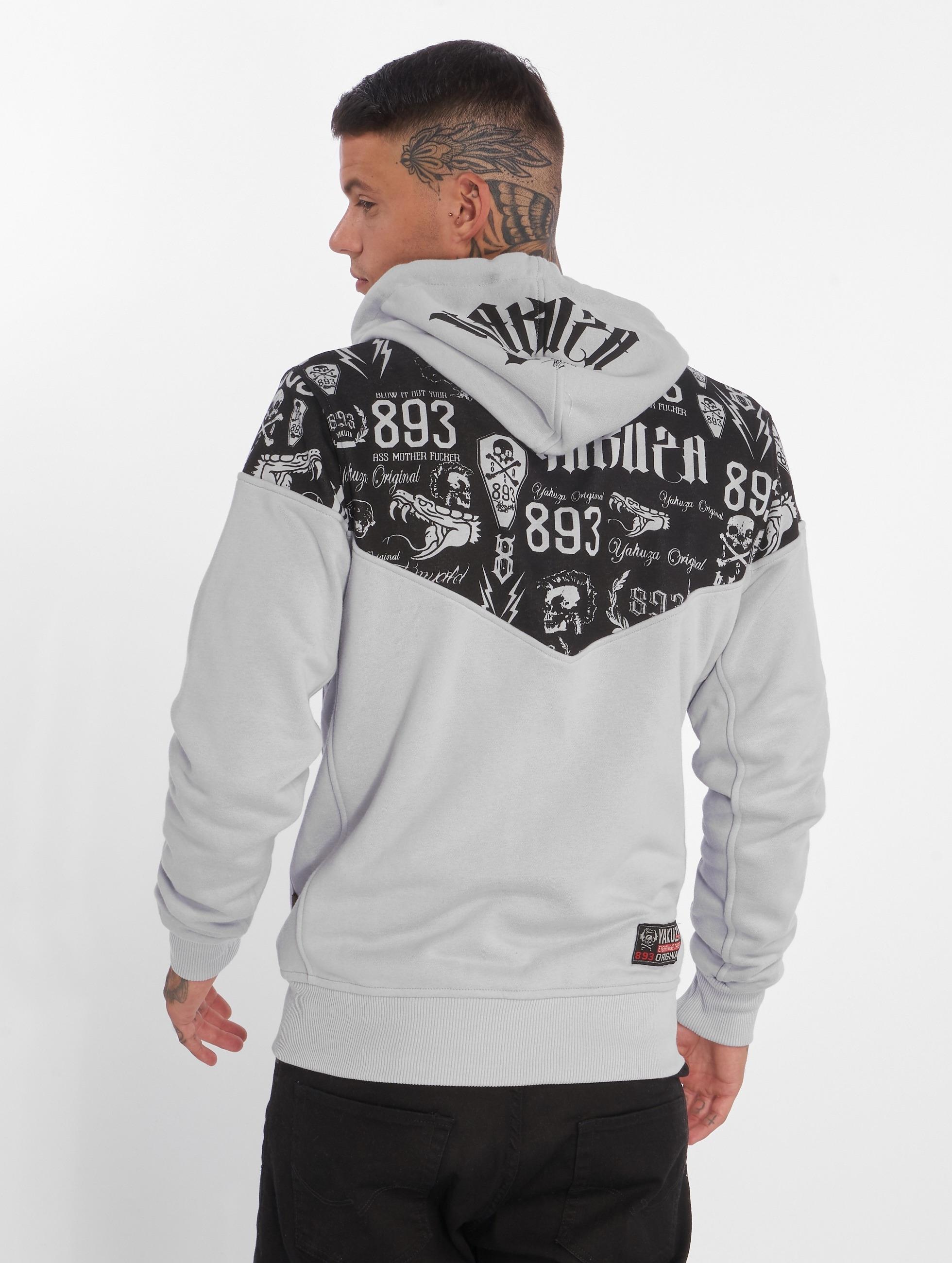 Yakuza Hoodies con zip Collos grigio