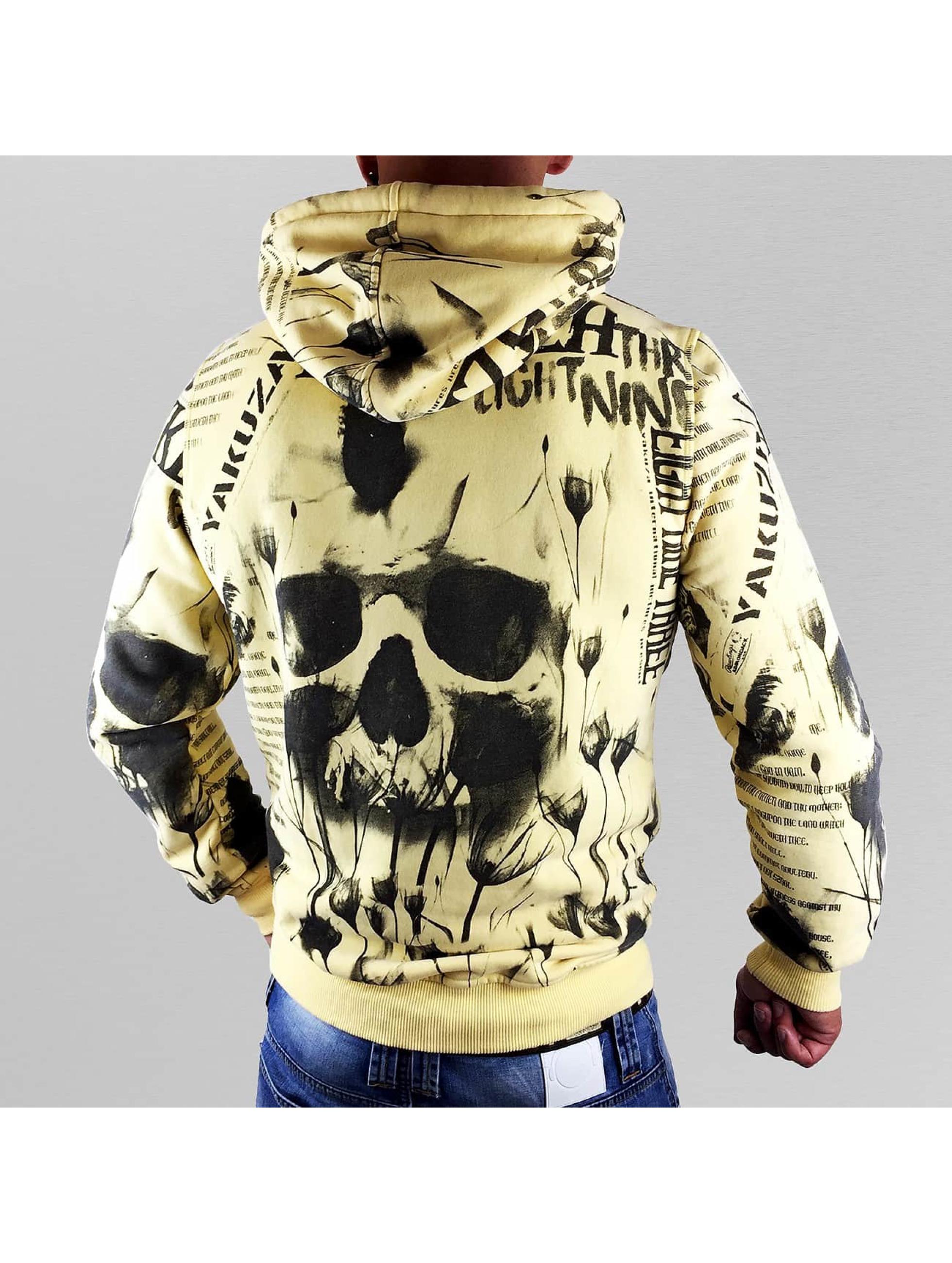 Yakuza Hupparit Skull Allover keltainen