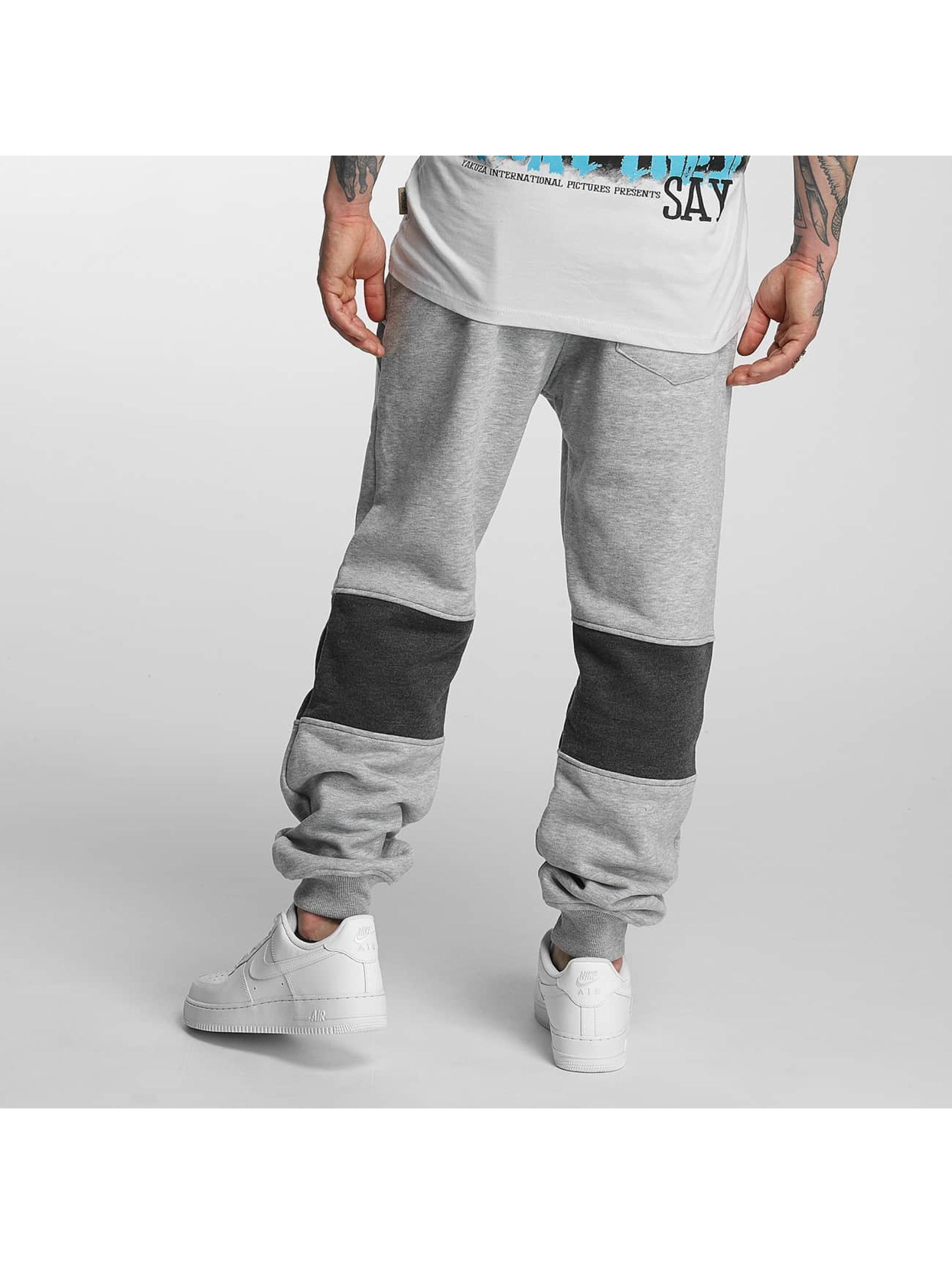 Yakuza Jogging kalhoty Warrior šedá