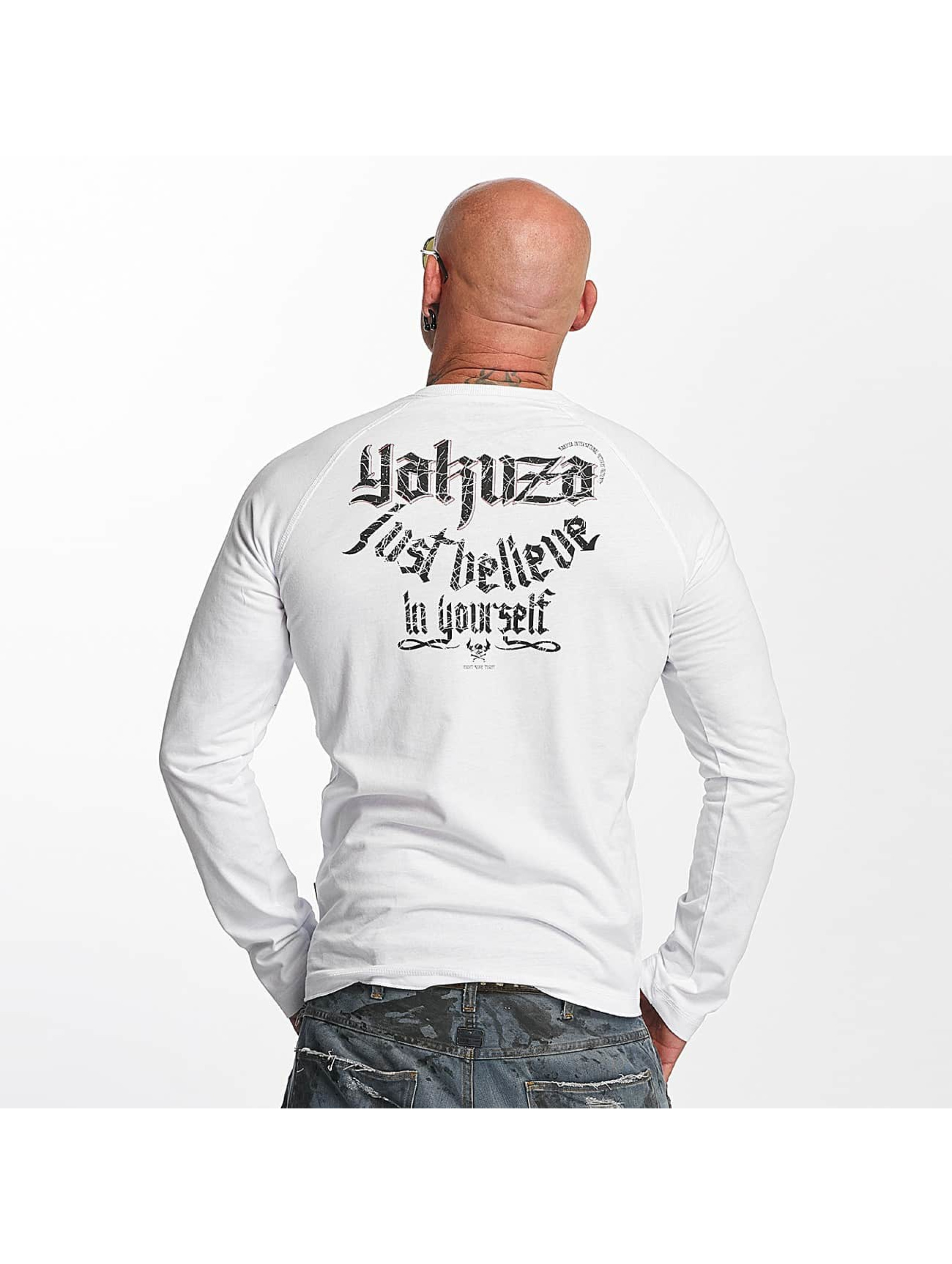 Yakuza Langermet Just Believe hvit