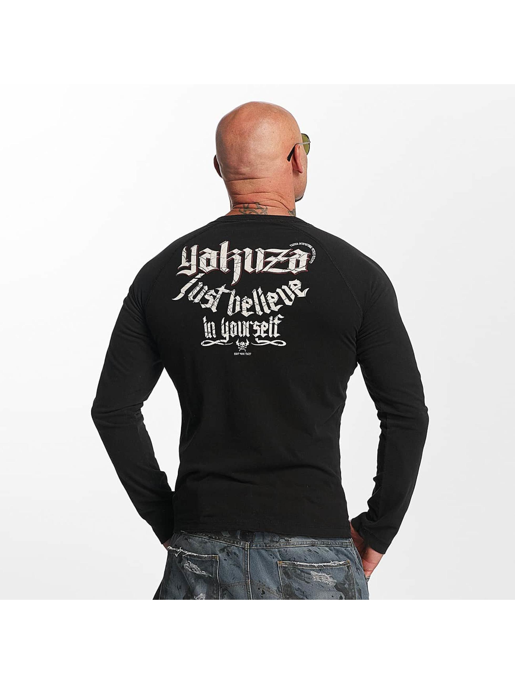 Yakuza Langermet Just Believe svart