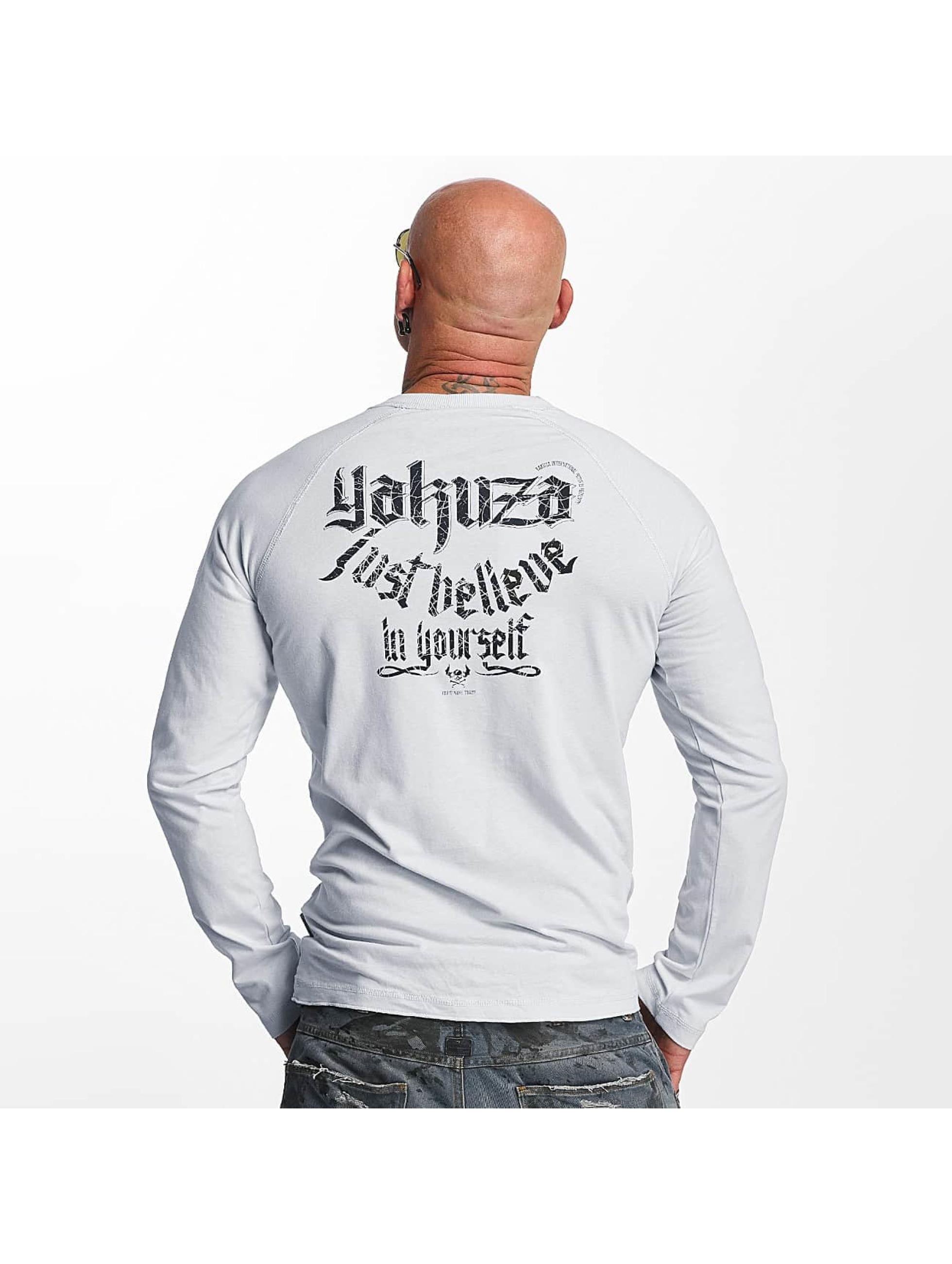 Yakuza Longsleeve Just Believe gray