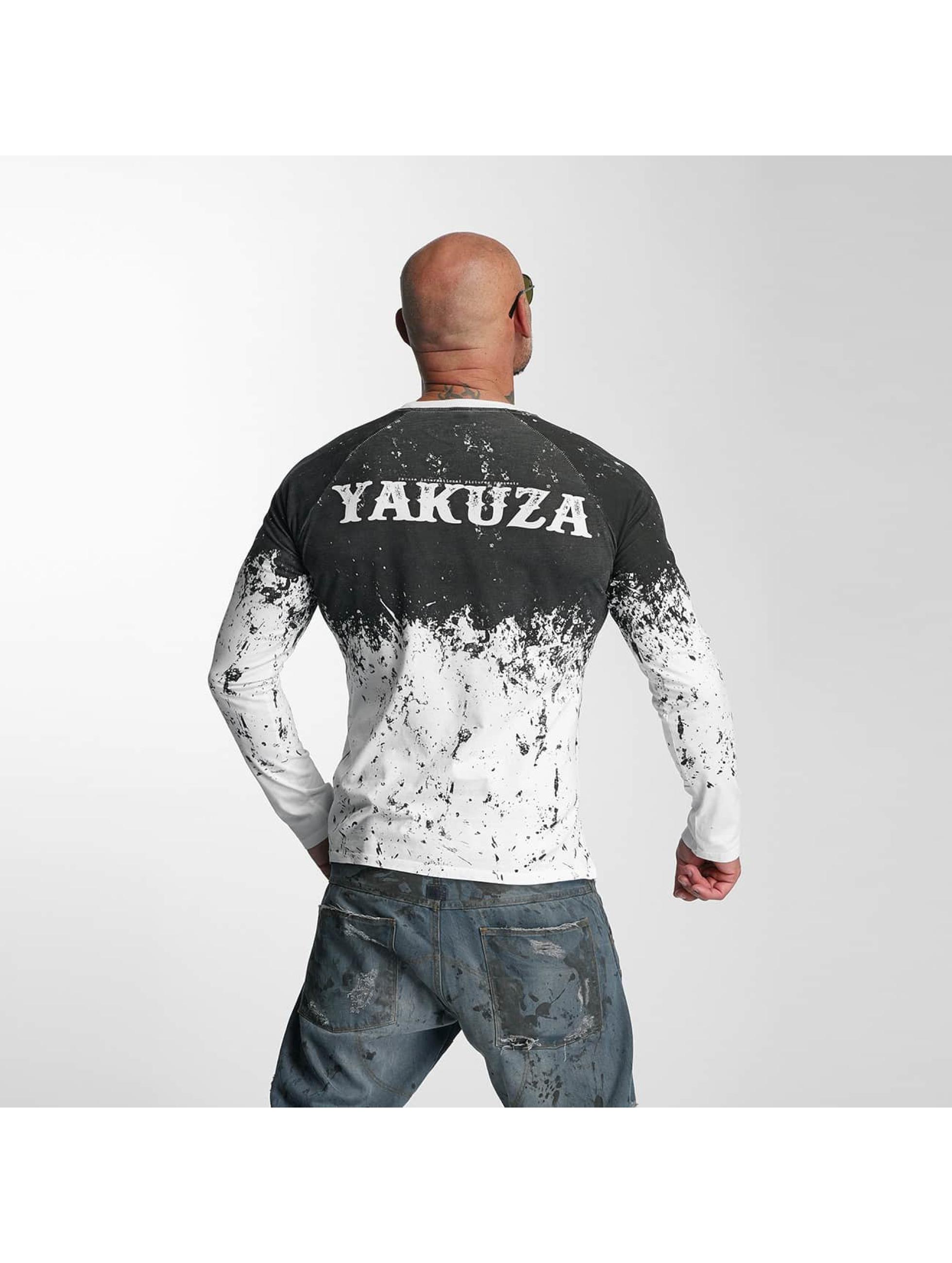 Yakuza Longsleeve Splatter weiß