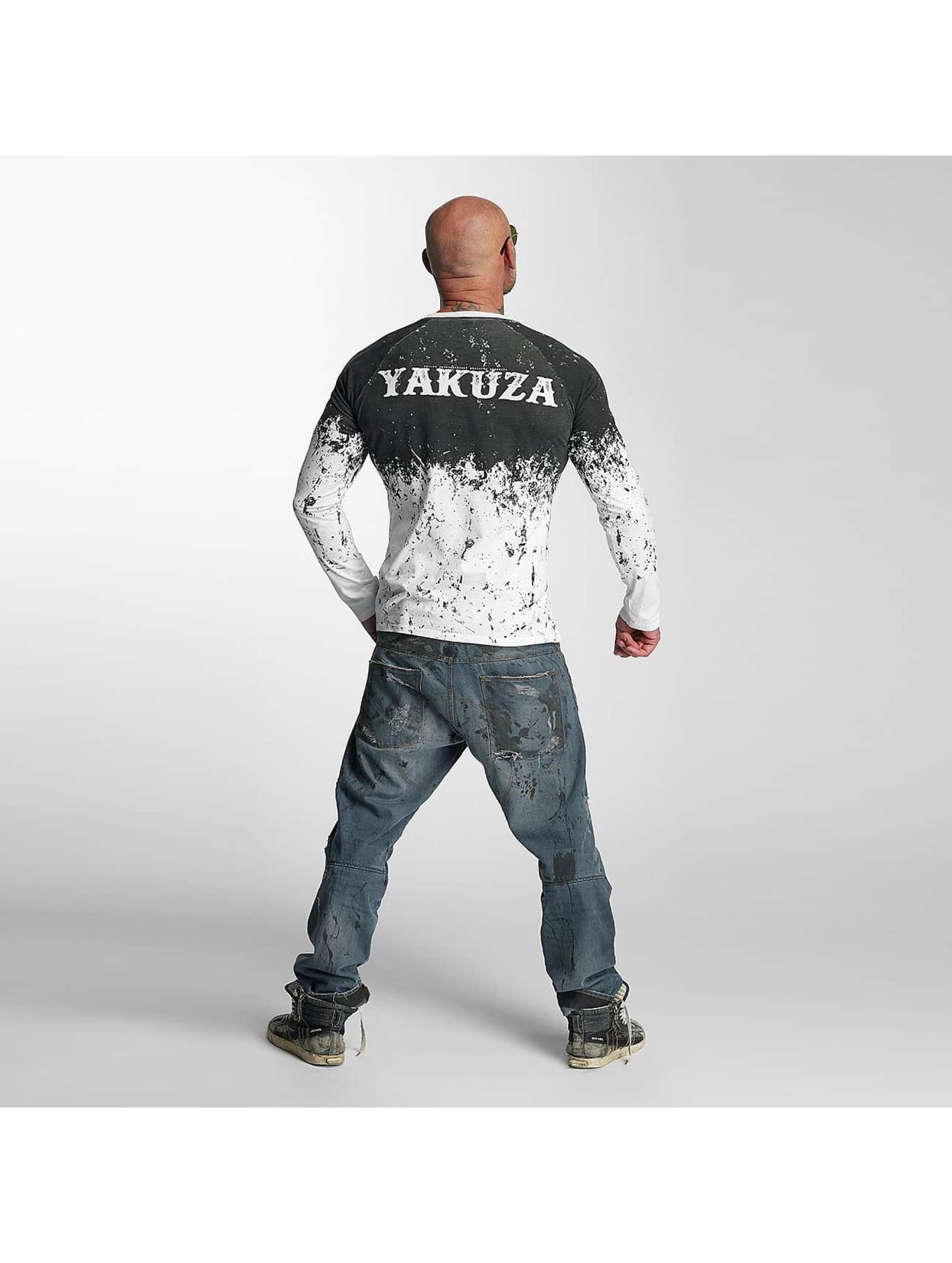 Yakuza Longsleeves Splatter bialy