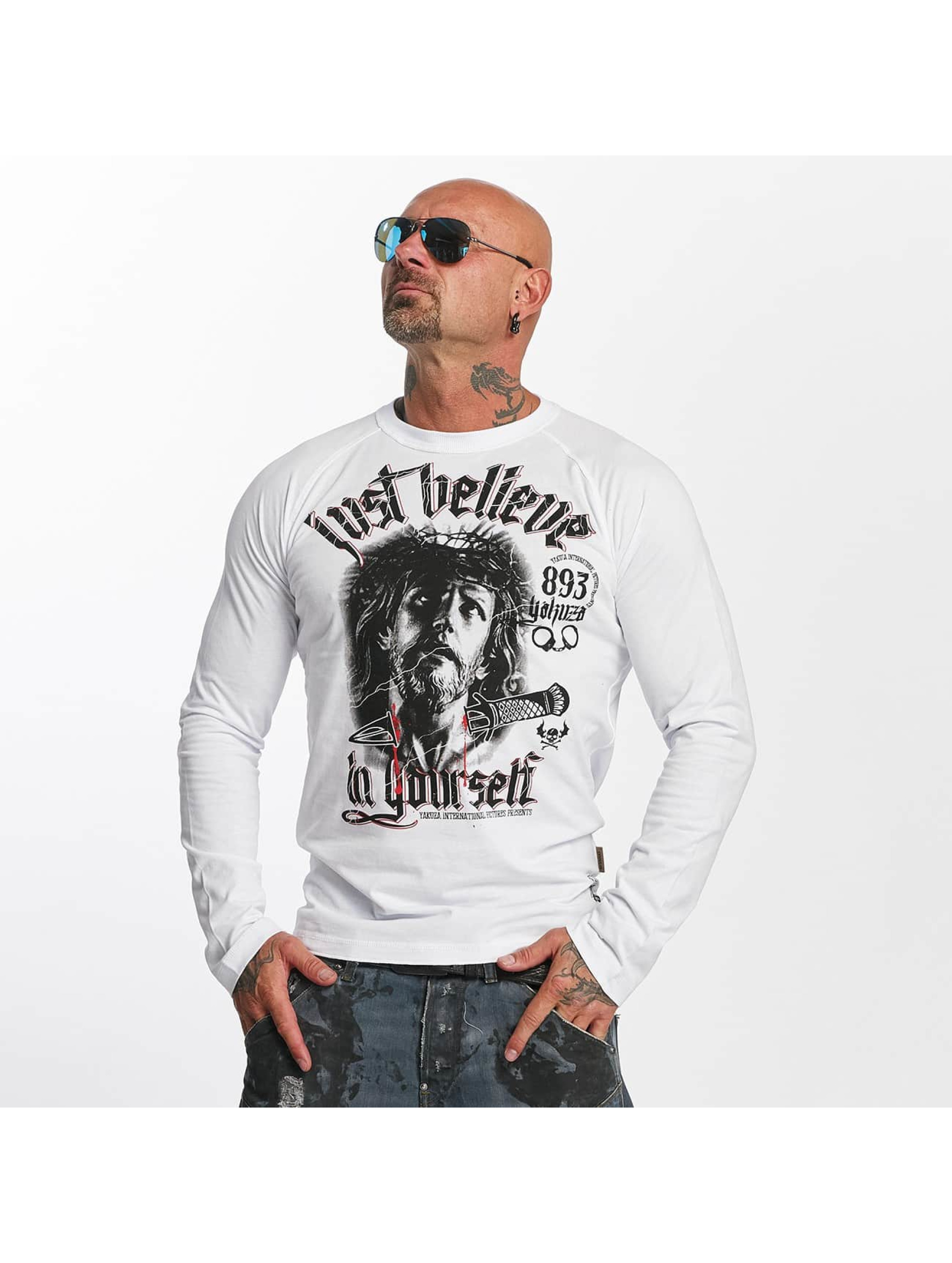 Yakuza Longsleeves Just Believe bialy