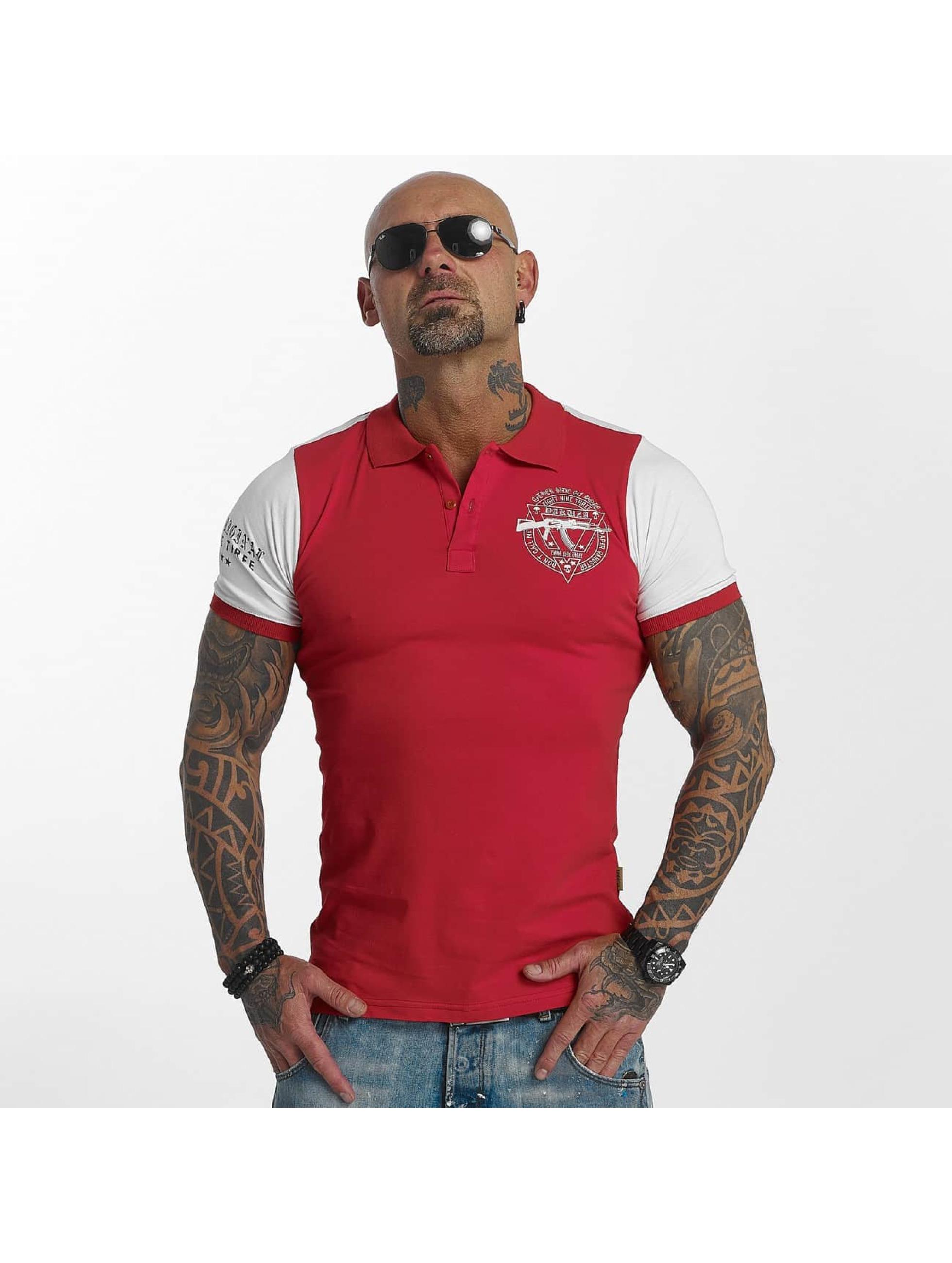 Yakuza Poloshirt AK Two Faces red