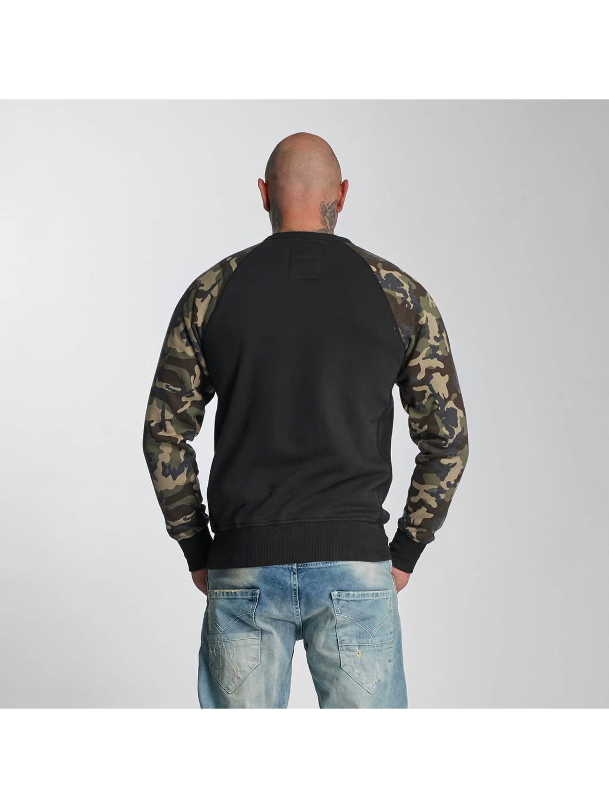 yakuza herren pullover dead head in camouflage 363336. Black Bedroom Furniture Sets. Home Design Ideas