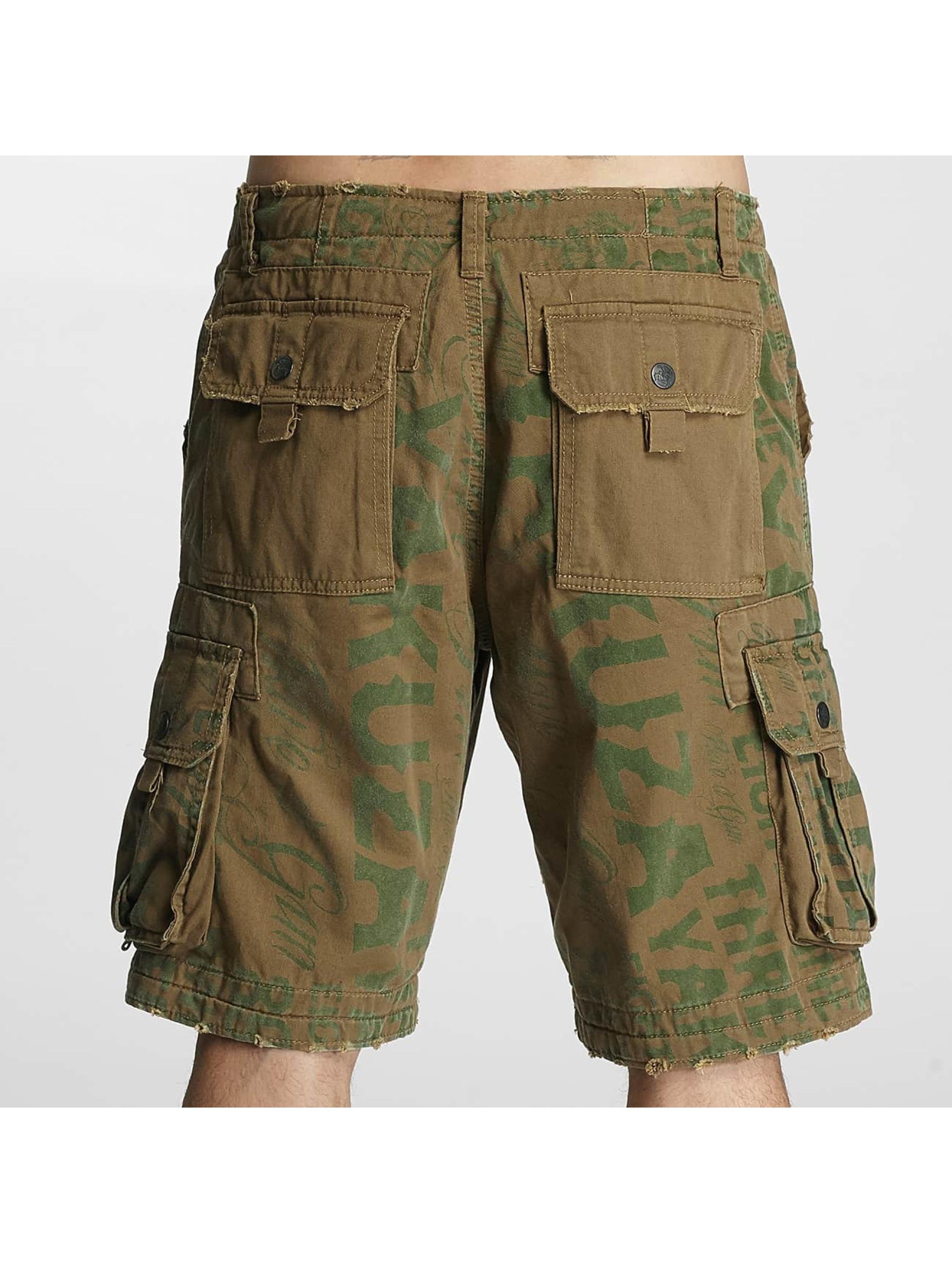 Yakuza Shorts Allover braun
