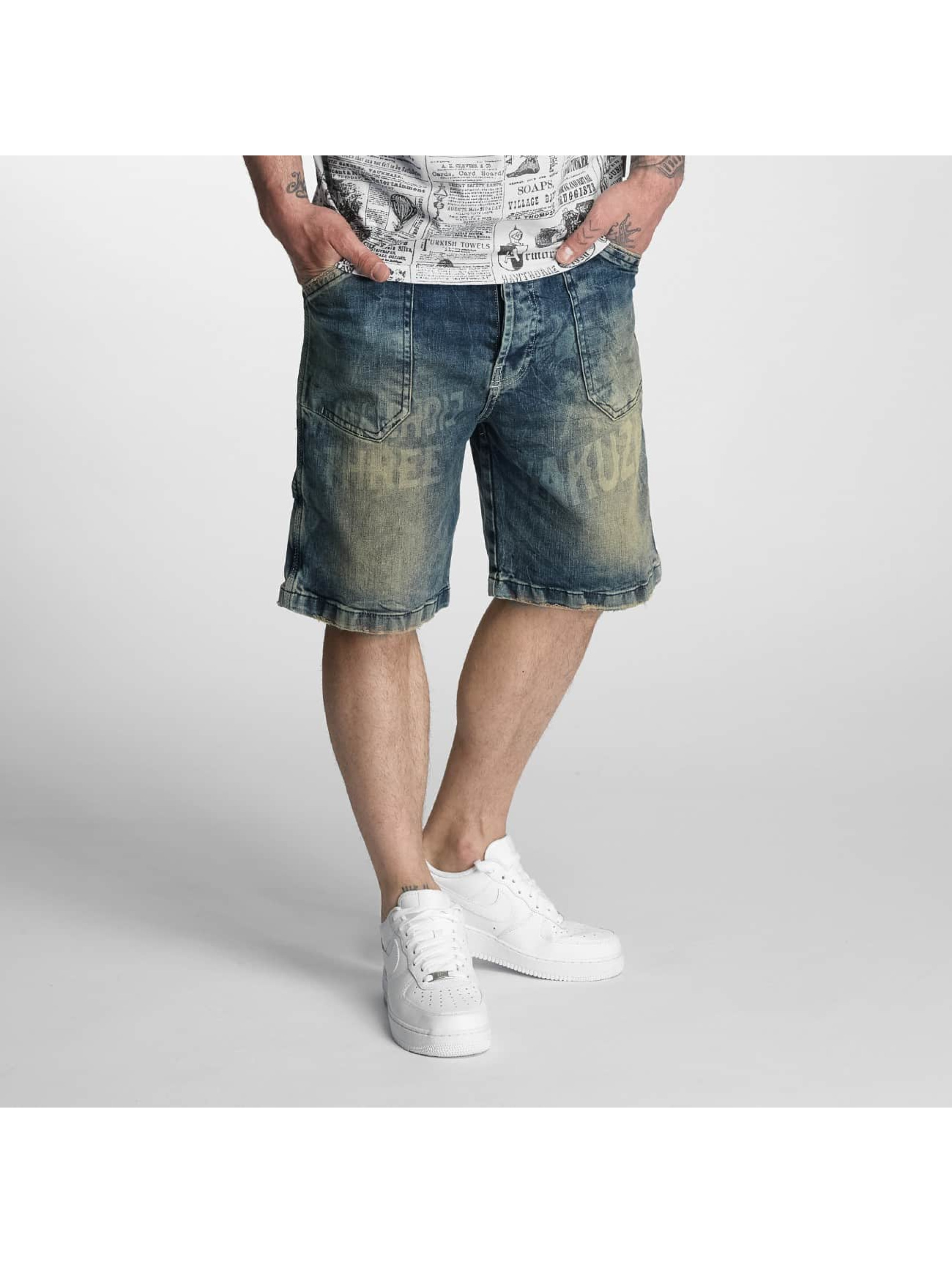 Yakuza Shorts Caught In A Circle Denim brun