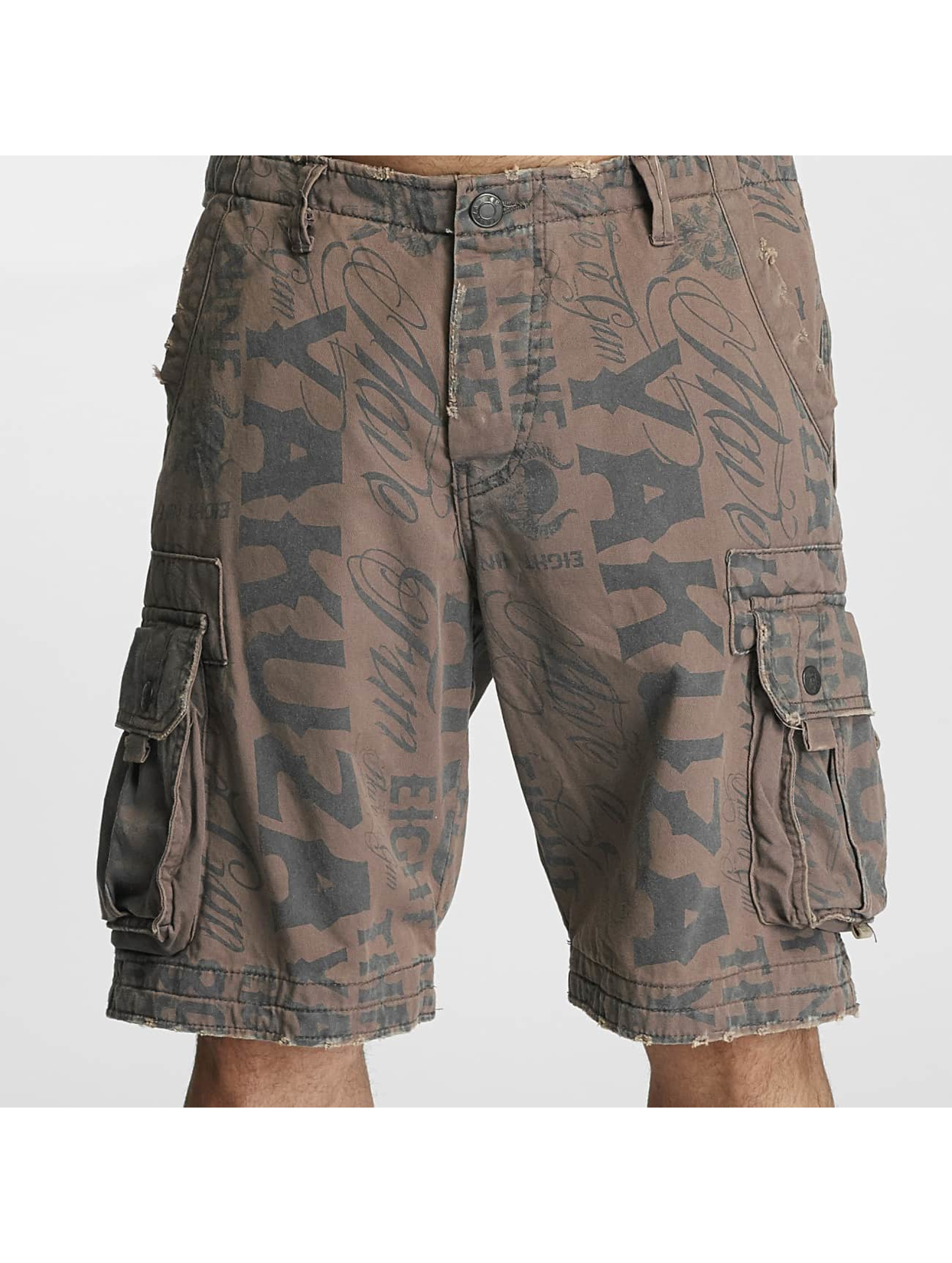 Yakuza Shorts Allover grau