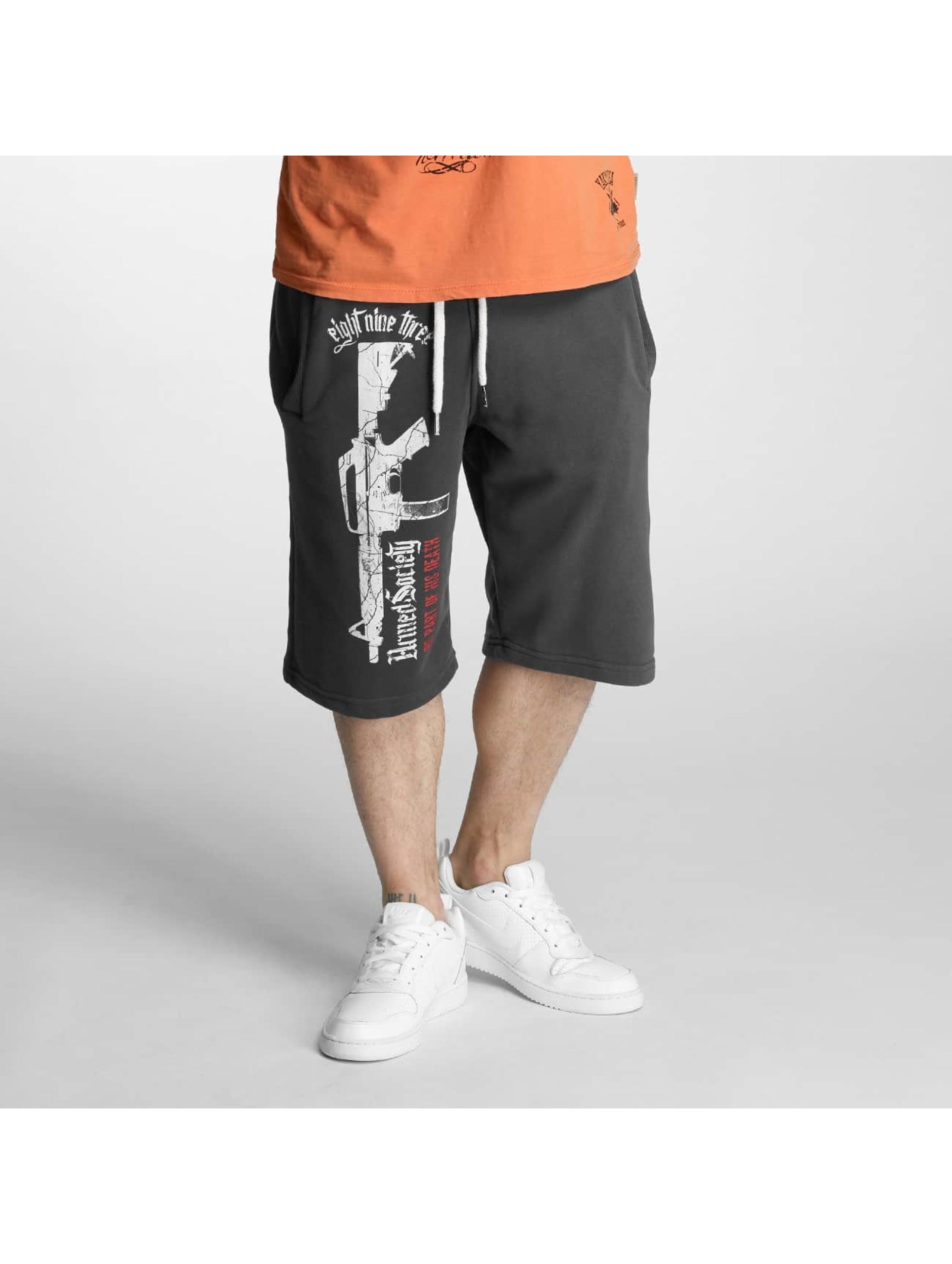 Yakuza Shorts Armed Society grau