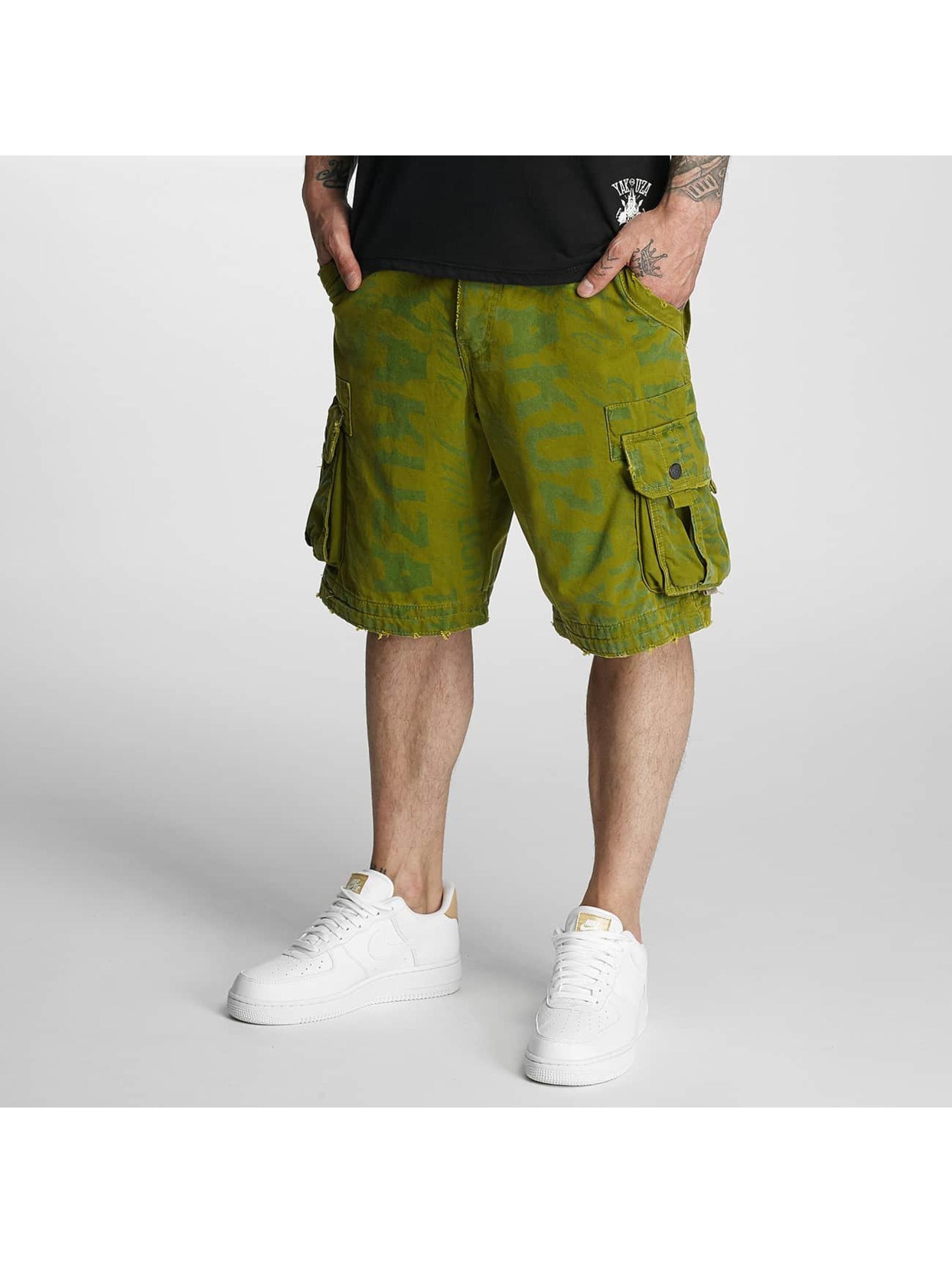 Yakuza Shorts Allover Cargo grün