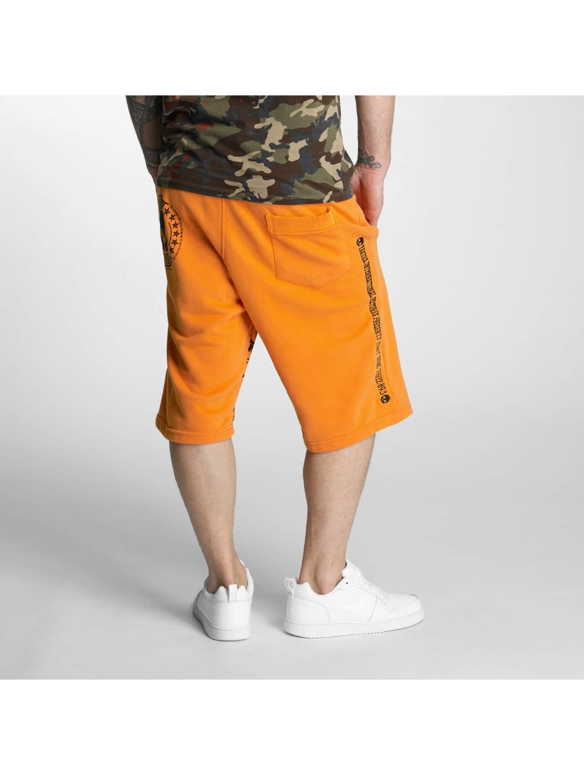 Yakuza Shorts Skull Label Sweat orange