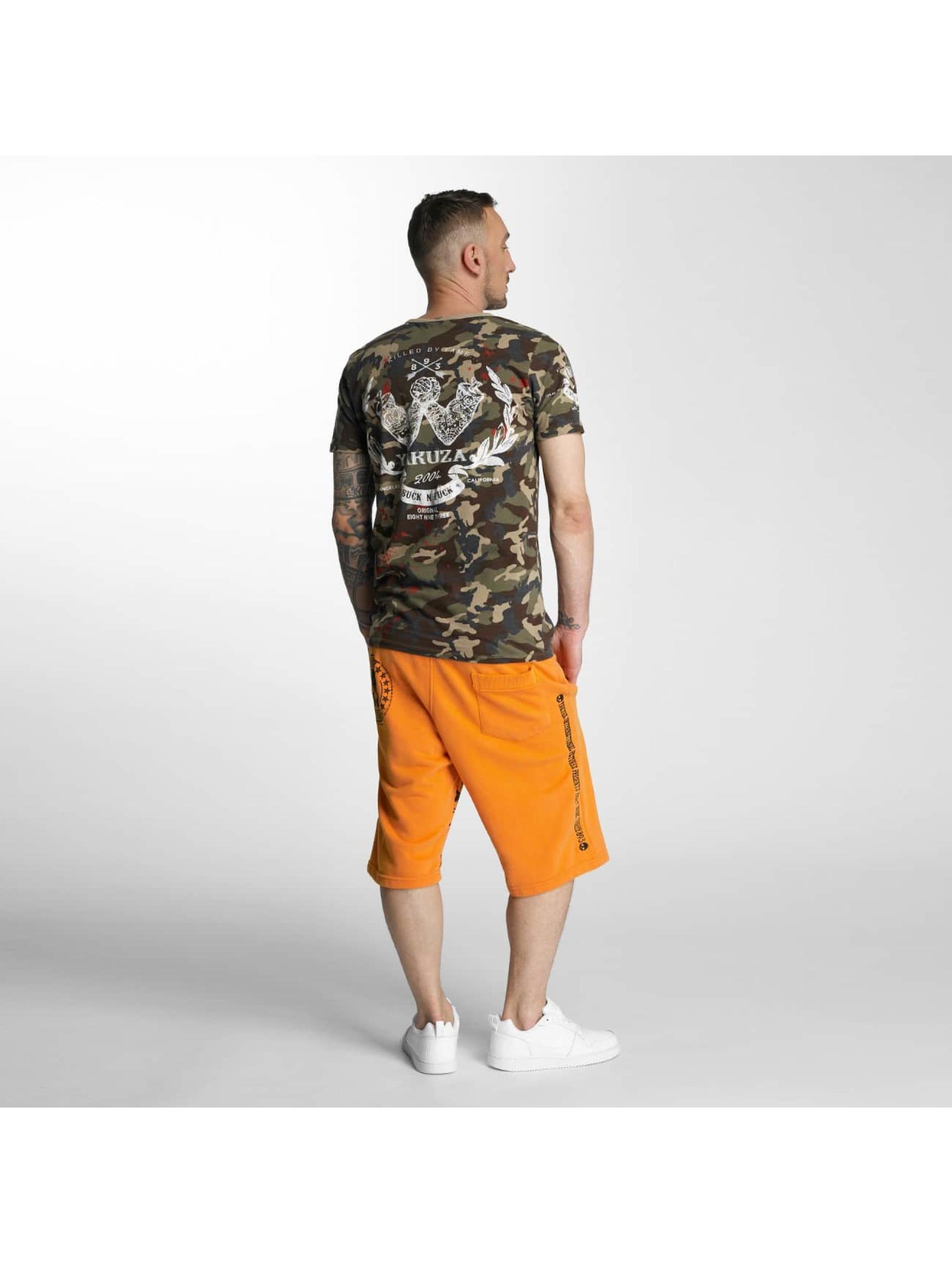 Yakuza Shorts Skull Label Sweat oransje