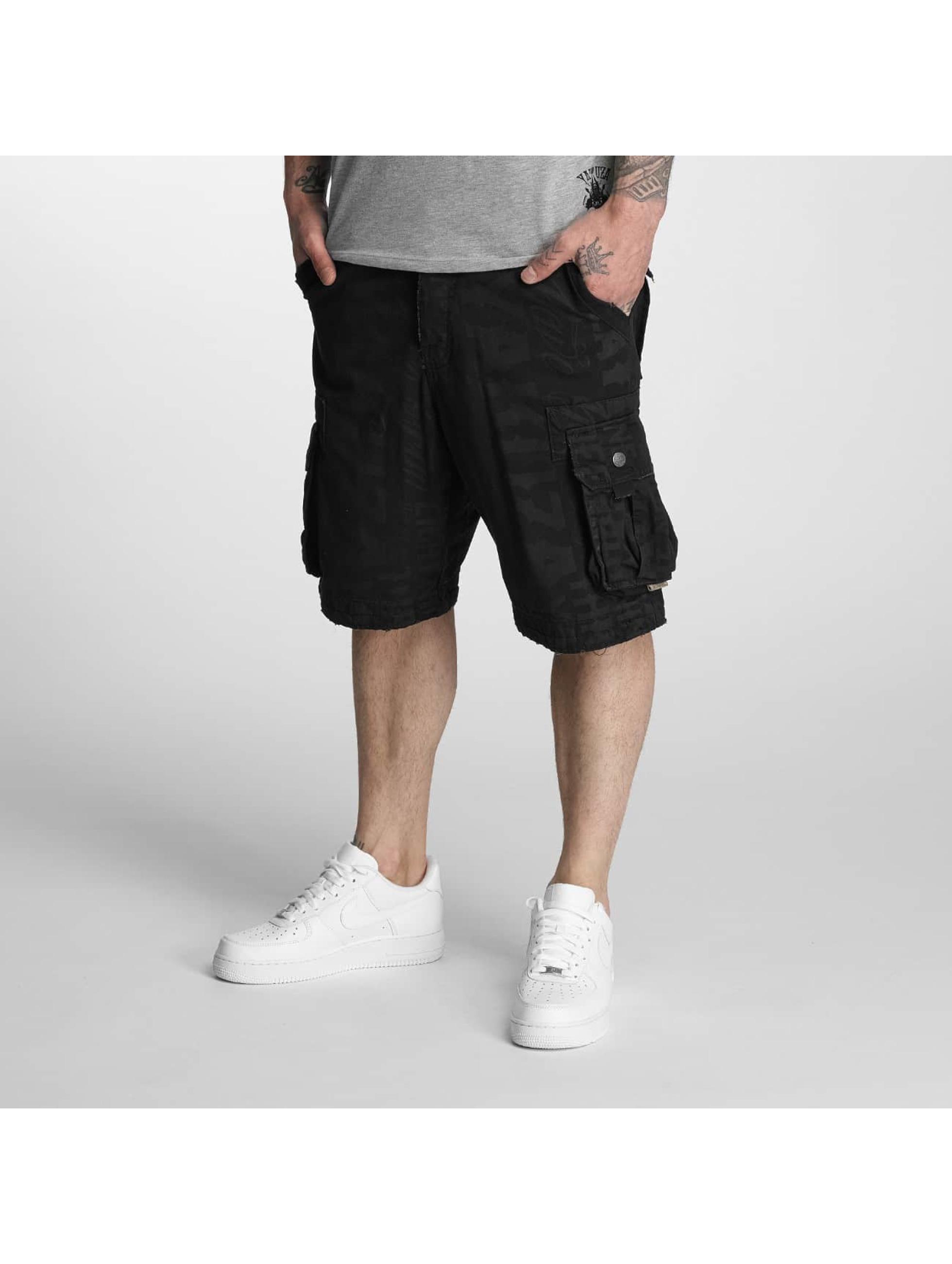 Yakuza Shorts Allover schwarz